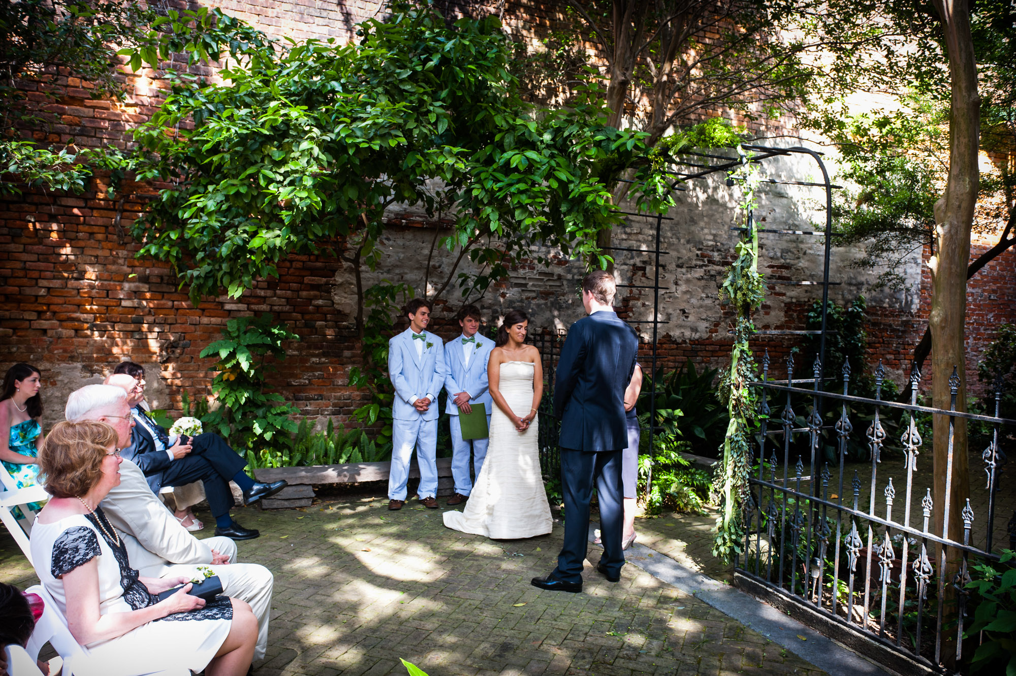 Wedding ceremony at the New Orleans Pharmacy Museum, photographed by Scott Myers