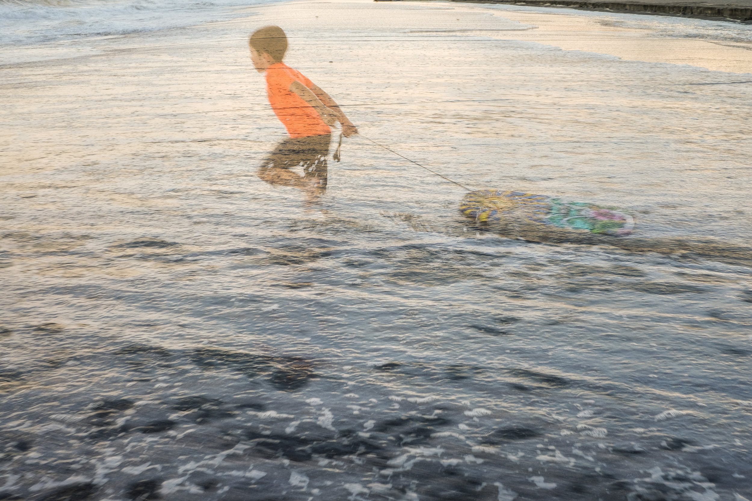 Fun image, nephew hitting the surf