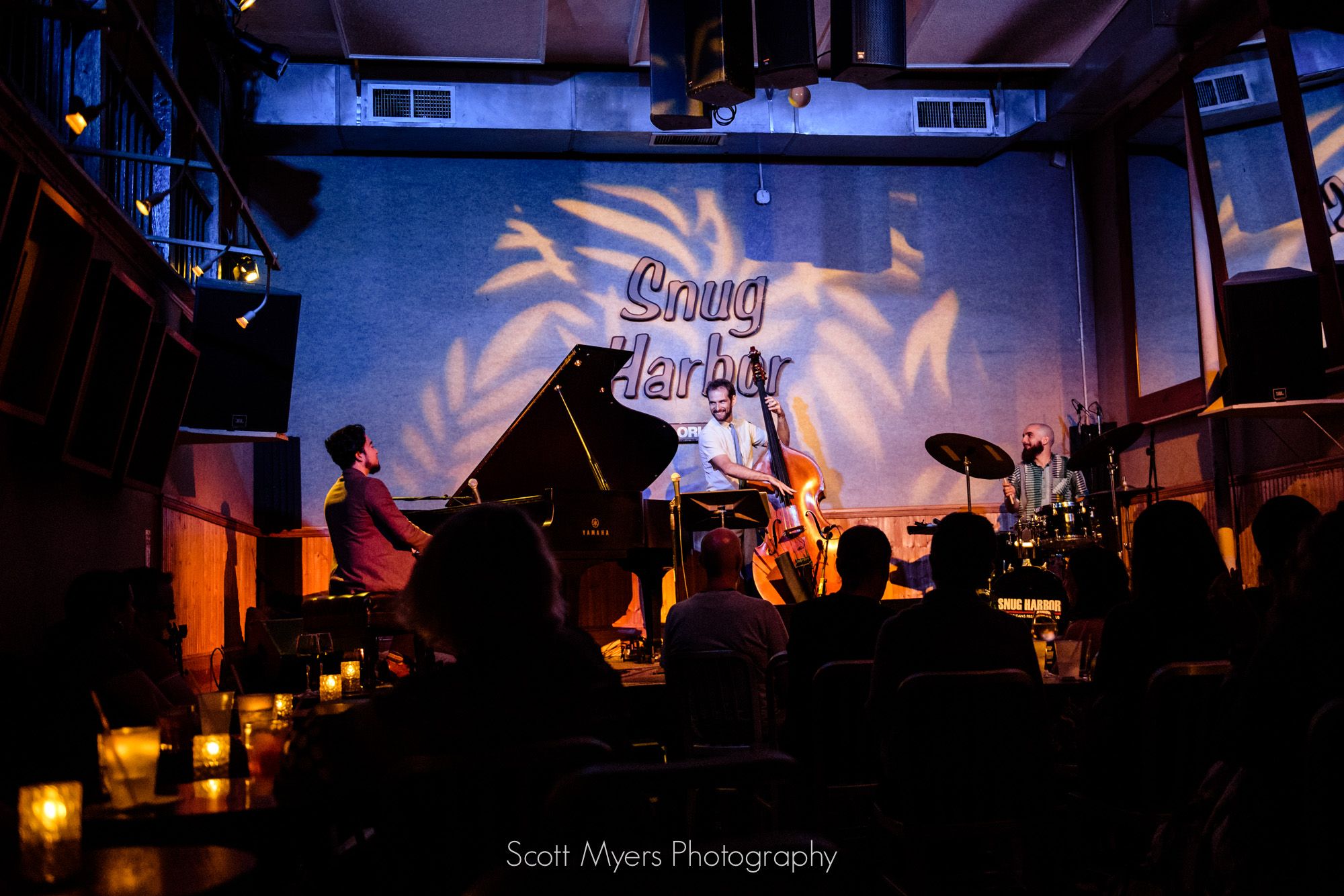 Extended Trio is Oscar Rossignoli, Brad Webb, Matt Booth.  Photographed live at Snug Harbor by Scott Myers