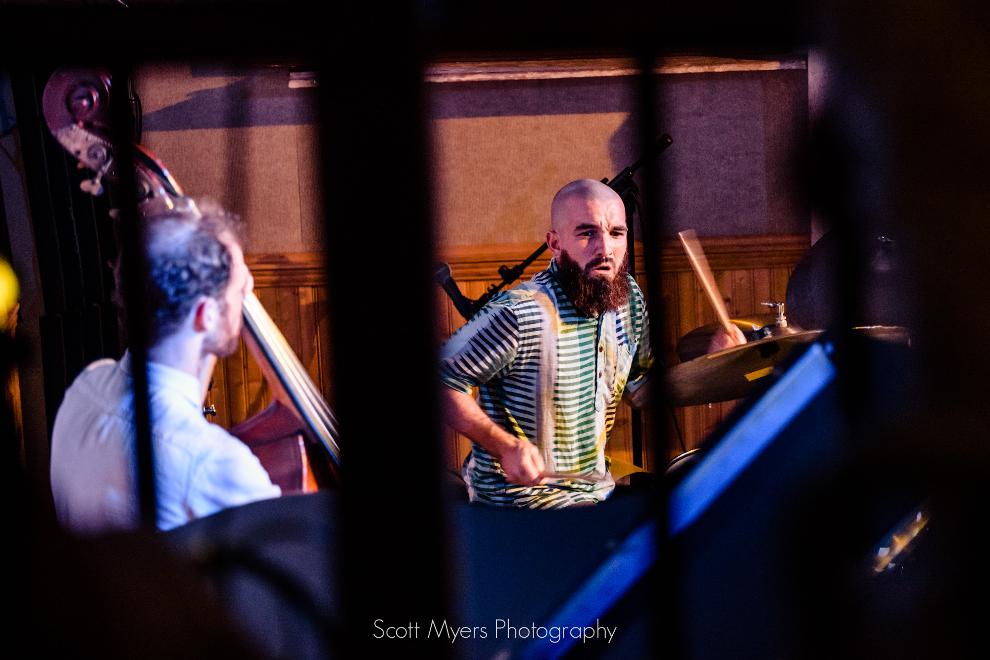 Brad Webb takes a drum solo at Snug Harbor, New Orleans