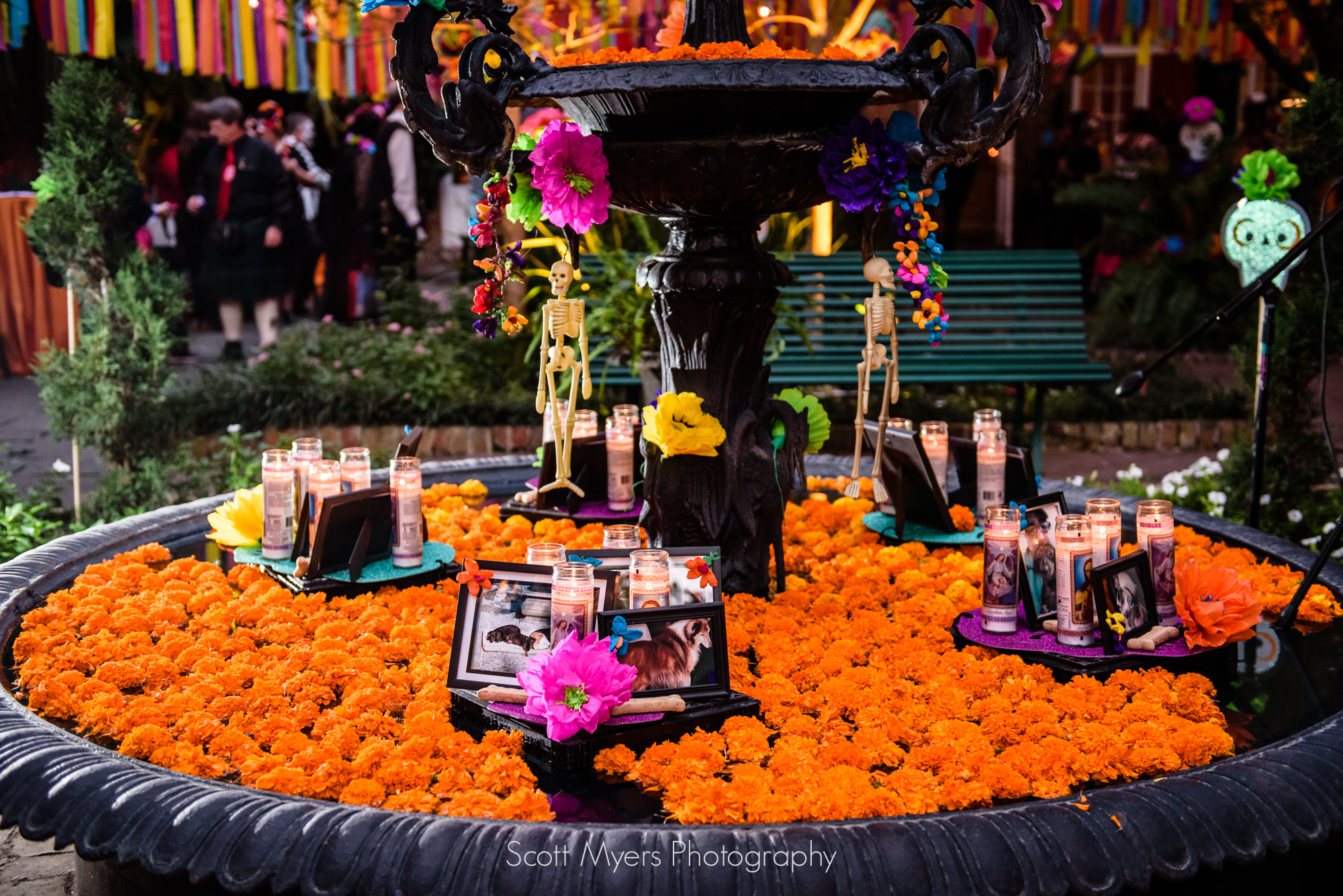 Wedding decorations for Day of the Dead themed wedding, Cafe Amelie