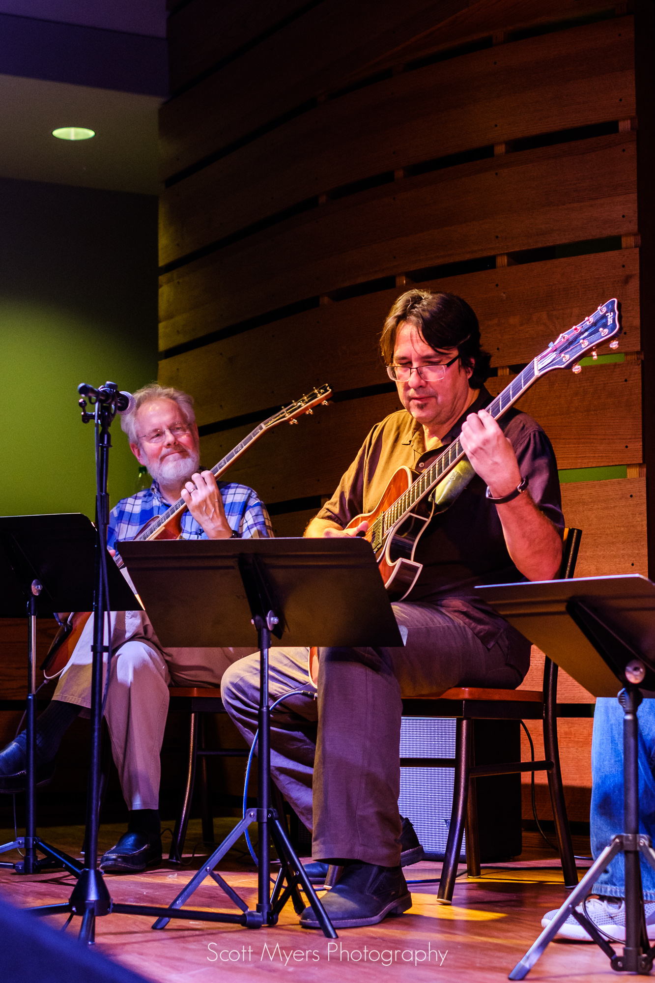 Hank Mackie and Steve Masakowski, great New Orleans Jazz Guitarists