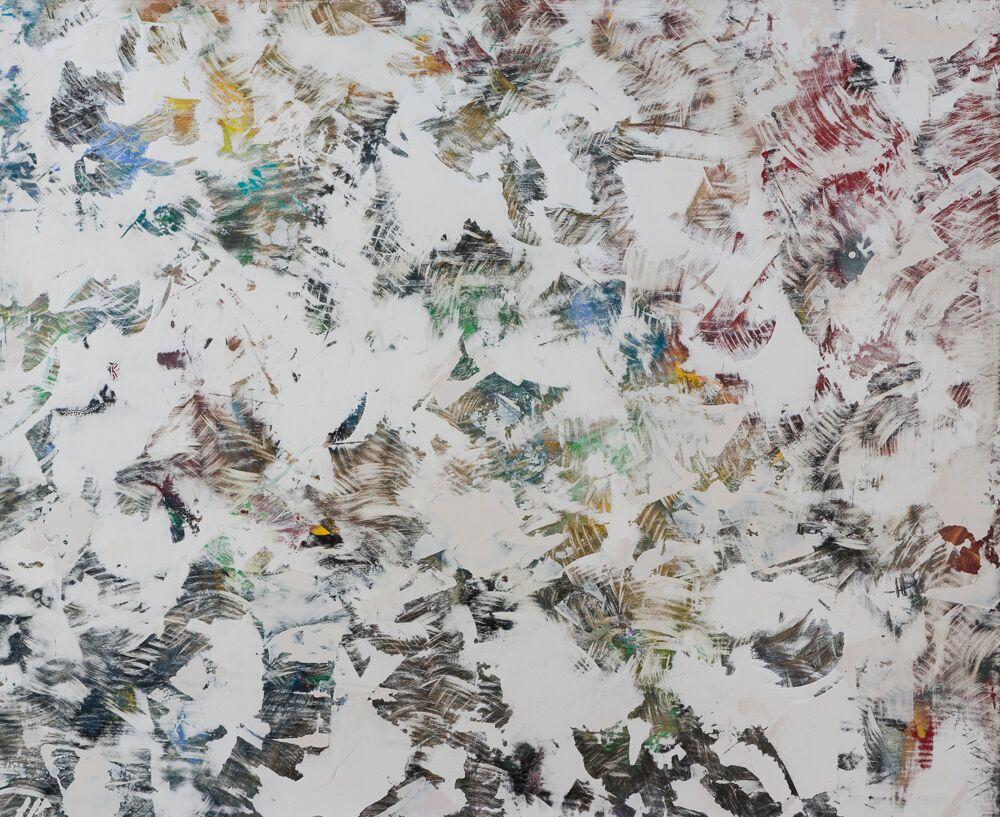 """LLASA, 44""""X36"""", oil/plaster on oak, 2016 - SOLD"""