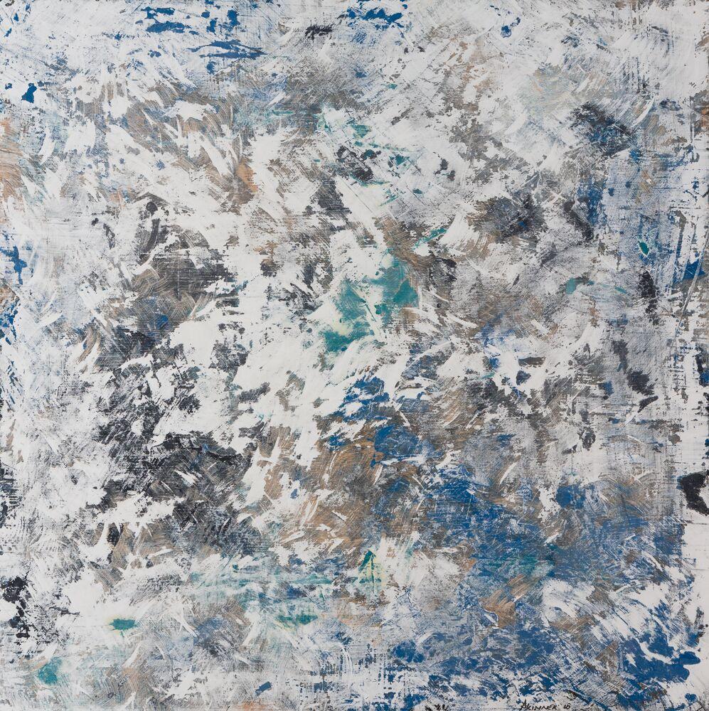 HYDRA, 4x4 oil/plaster on oak, 2016 - SOLD