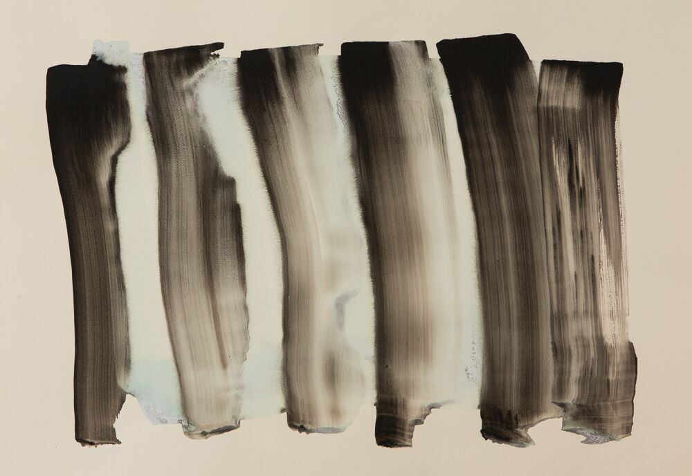 "SERRA, 27""X39"", ink/plaster on paper, 2016, SOLD"