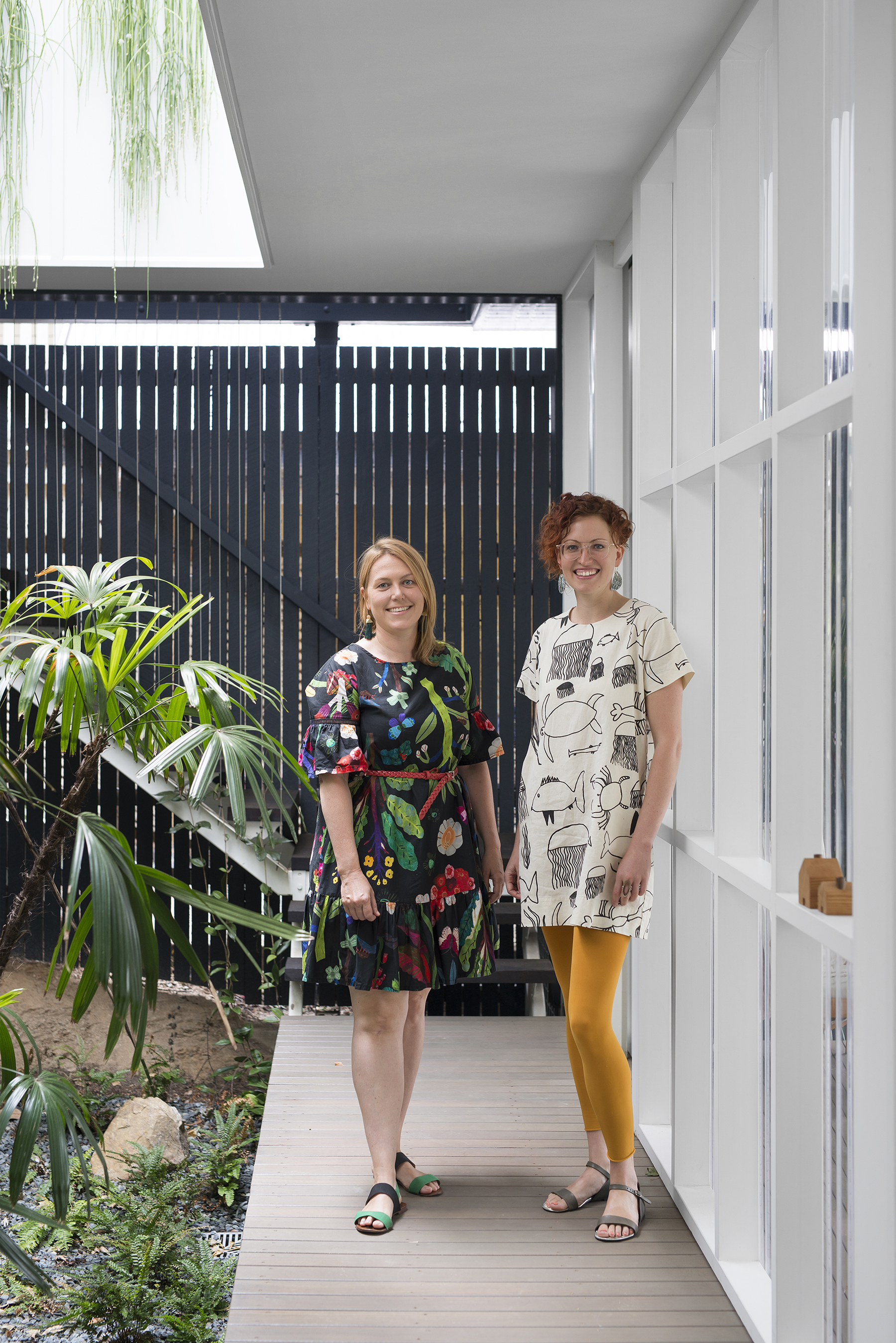 LEFT to RIGHT: Suzie Wiley and Laura Pascoe in the new Garden Studio that they use as a base for their business: Surroundings - a human-centred design consultancy.