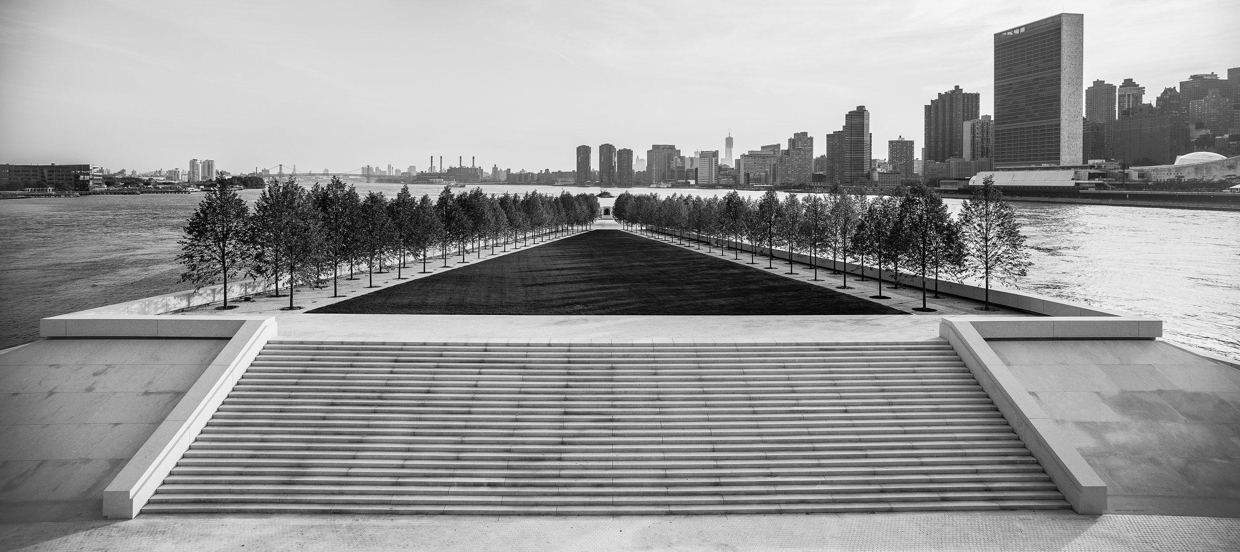 Franklin D. oosevelti Nelja Vabaduse park (Franklin D. Roosevelt Four Freedoms Park; Foto: Paul Warchol)