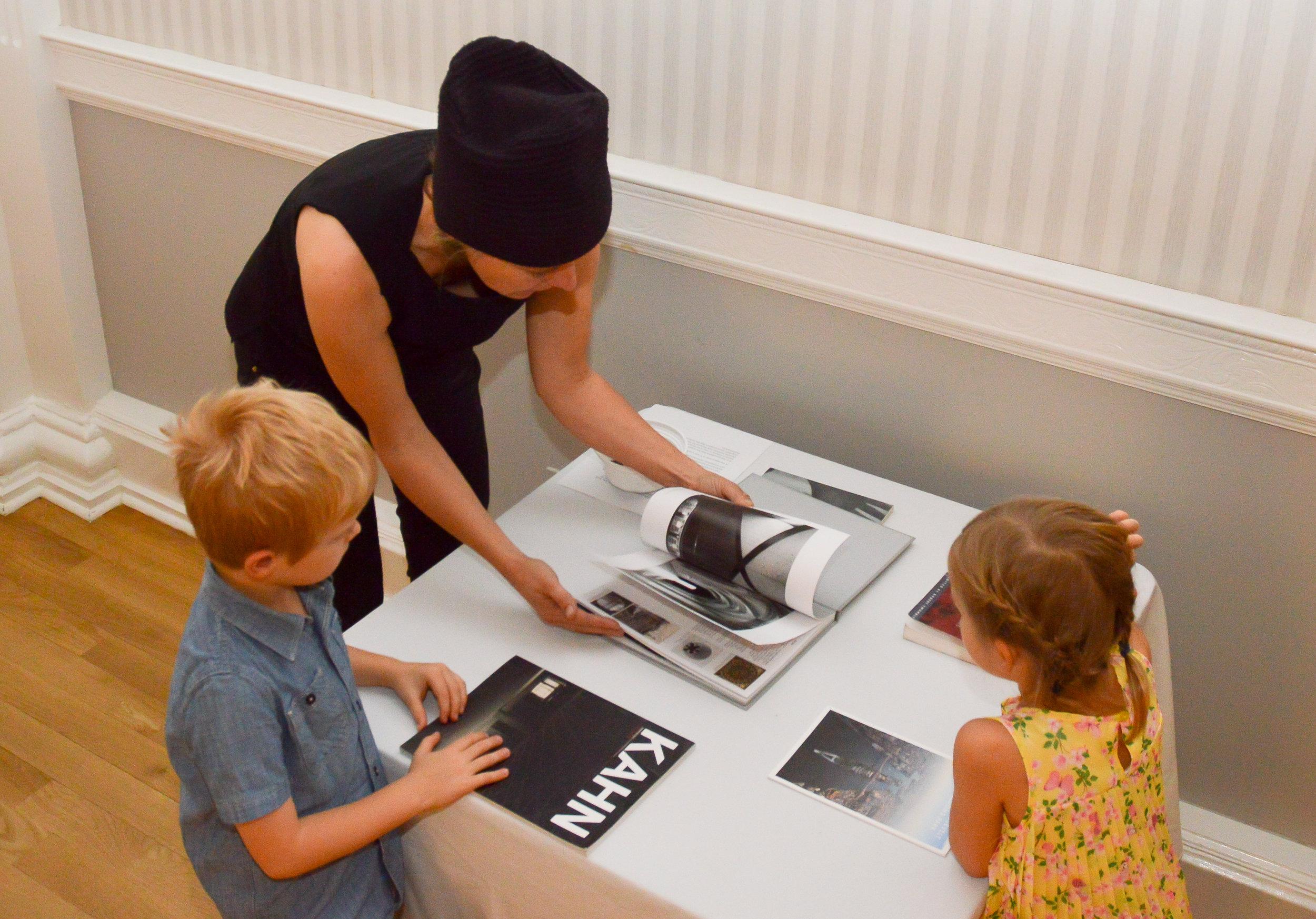 Artist Jaanika Peerna exploring book about Louis Kahn
