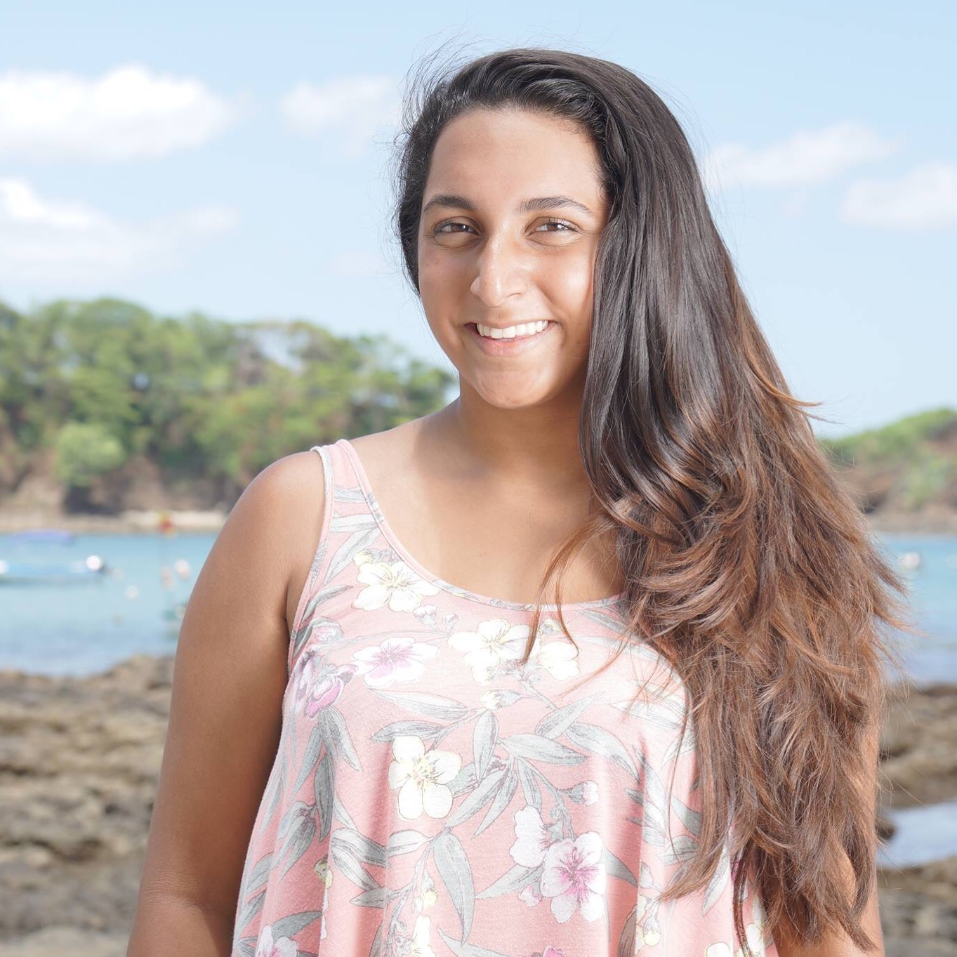 "Gabriela Iglesias-Ramesar  ""Leadership is not only achieved by taking initiative, but also by being open to learning from new people.  I learned so much from the kids at Colegio Nosara. It was just an amazing experience."""