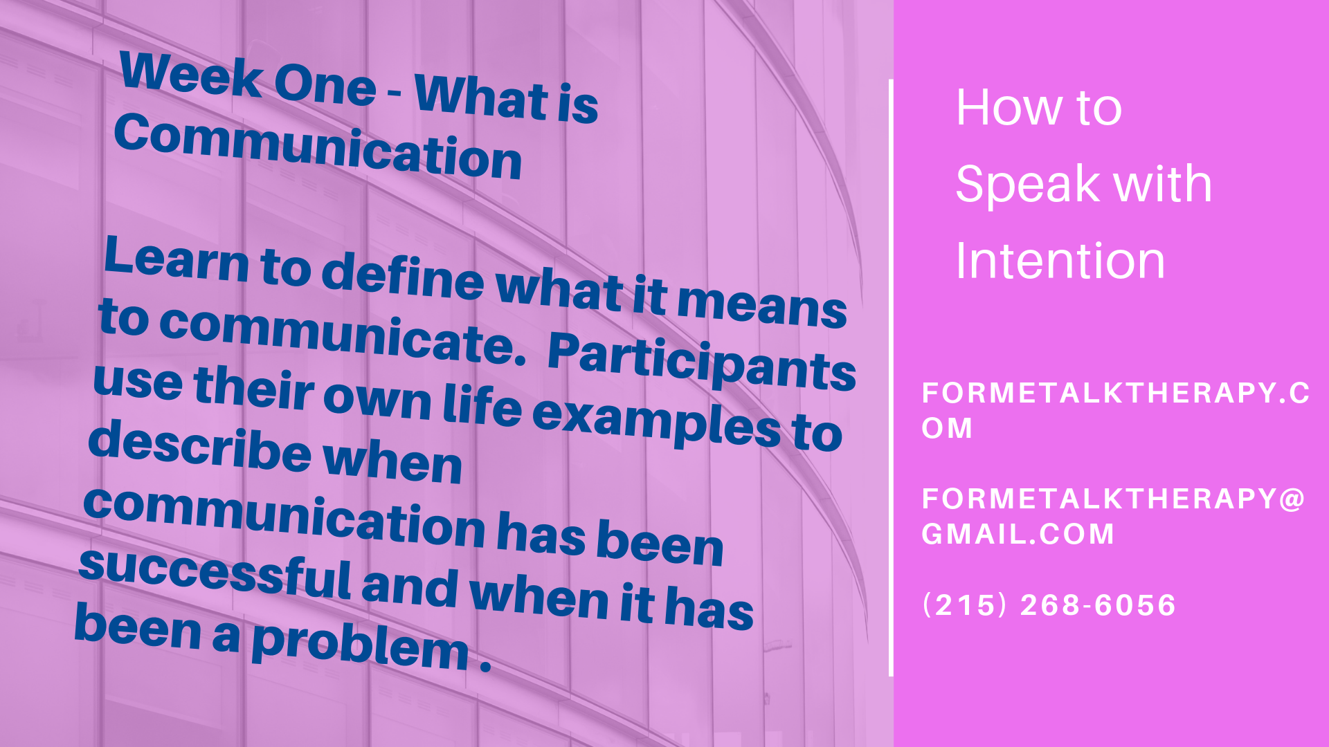 How to Speak with Intention
