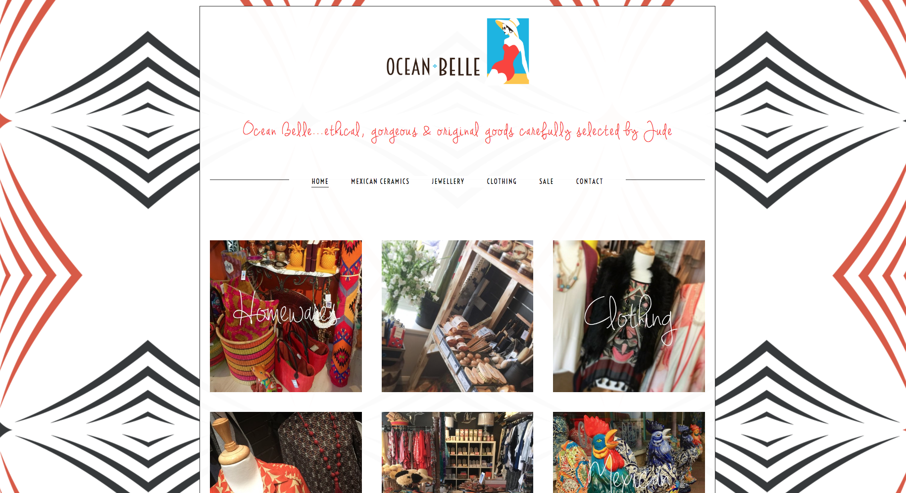 Ocean Belle  Web Design