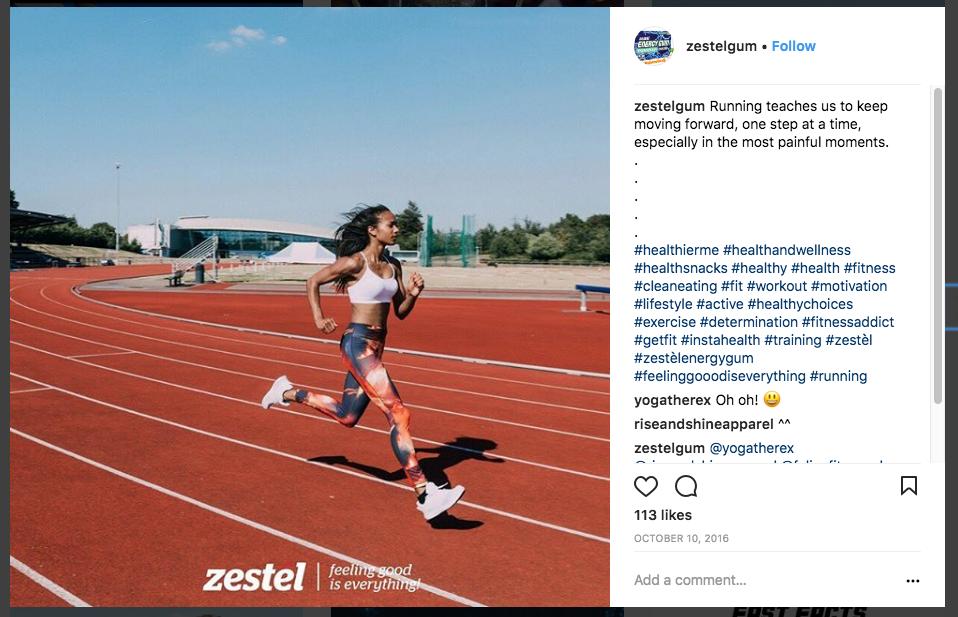 Last post for the Zestél Gum social media launch campaign