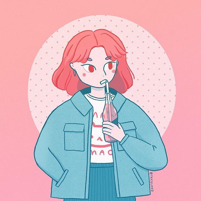 Had to draw @lovesoup 's super cute soda girl because I love her oversized jacket, it looks so comfy!  . . . #lovesoup120k #drawthisinyourstyle #dtiys #procreate #procreateapp #digitalart #illustrators #characterart #digitalillustrator
