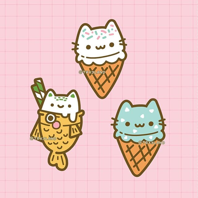 ✨Sweet Floof: Ice Cream Trio✨⁣ ⁣ Part 2/3 of the new collection! Which treat would you choose to beat the summer heat? Bubble tea or ice cream?☀️ ⁣ .⁣ .⁣ .⁣ #taiyaki #taiyakiicecream #icecream #cutepins #cutepin #kawaiipins #enamelpins #pincollector #summer #trxyland