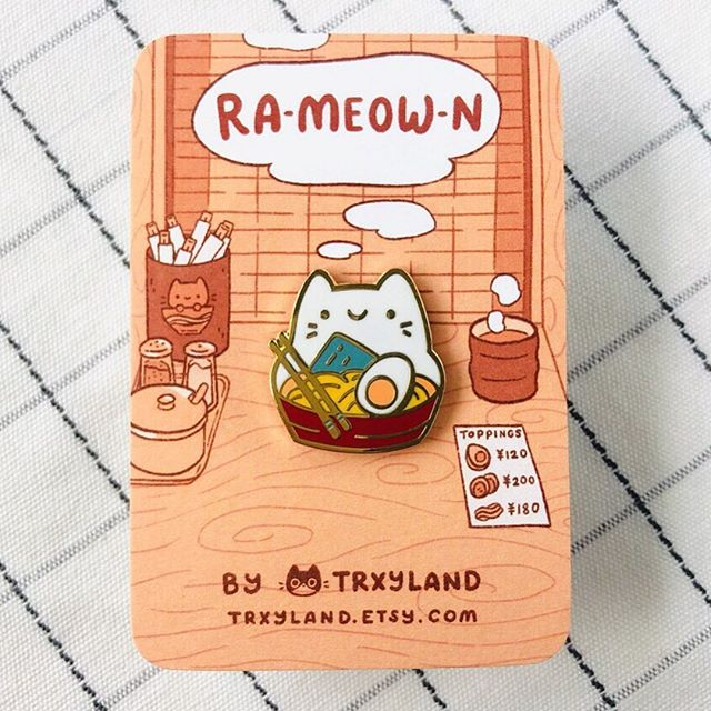 Getting a bunch of these noodle kitties ready for shipping today! I'm so happy that you guys like them as much as I do 😭💕⁣⁣ ⁣⁣ They're still available in my shop at trxyland.etsy.com🍜 ⁣⁣ .⁣⁣ .⁣⁣ .⁣⁣ #pingame #pingamestrong #pincollection #pincollector #ramen #ramenlover #catloversclub #enamelpins #enamelpin #cutepins #trxyland