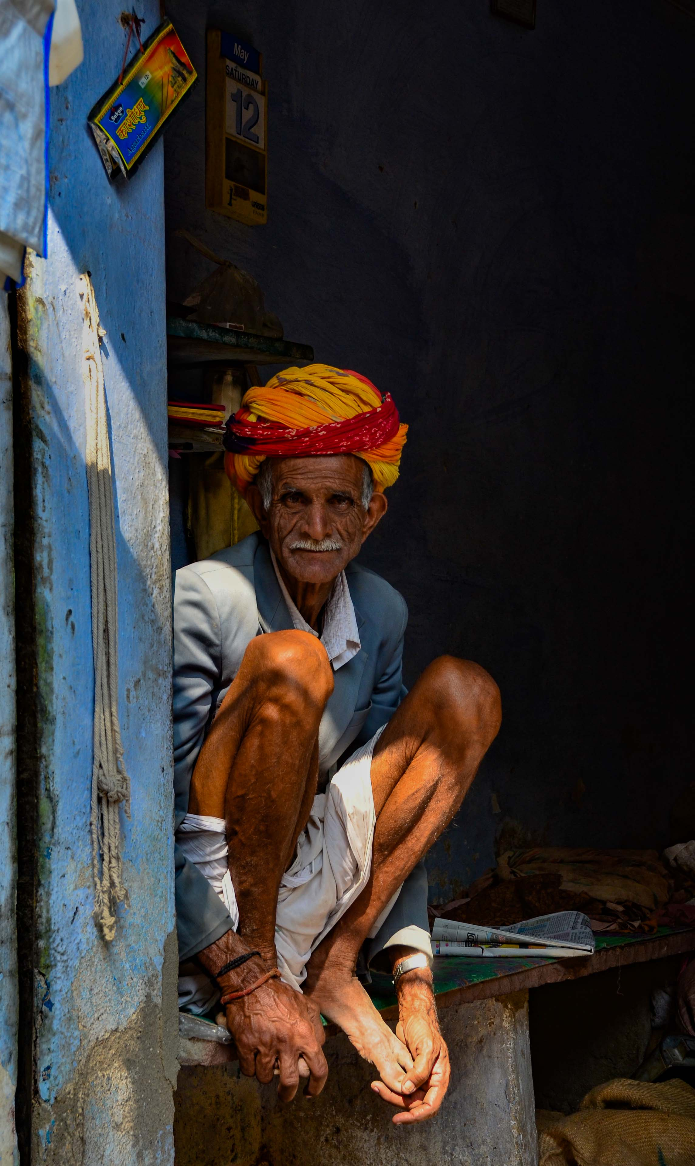 Man in Shadow, Udaipur, India 2012