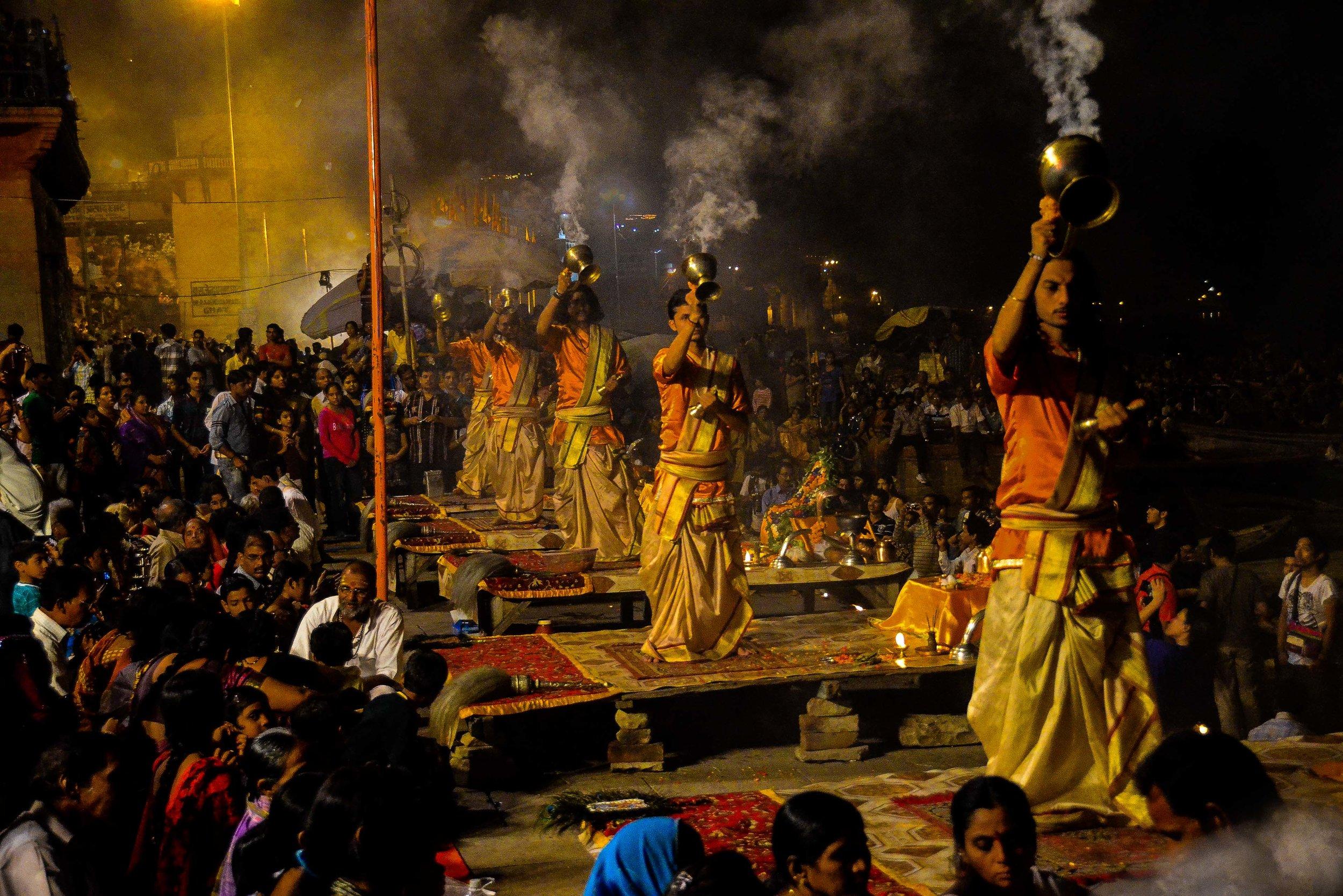 Evening Memorial Tribute 2, Varanasi, India 2012