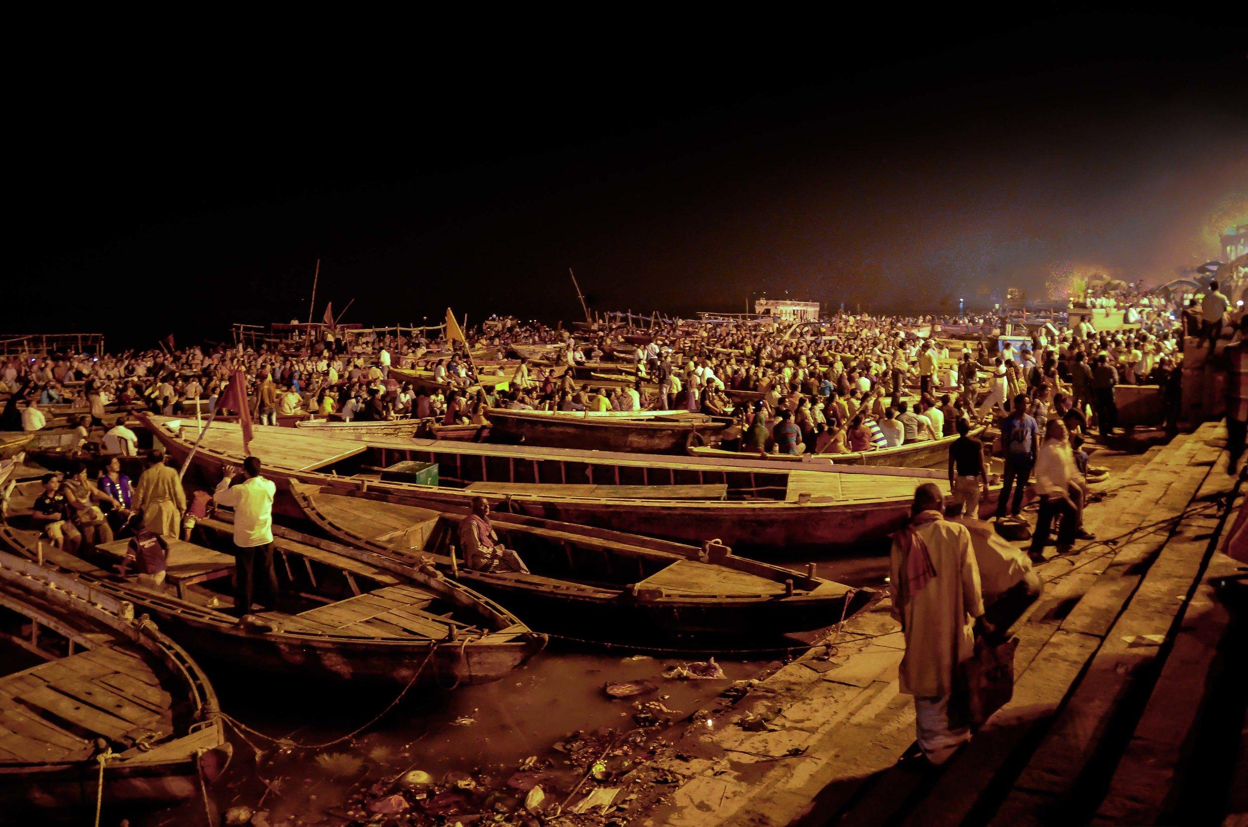 Evening Memorial Tribute 1, Varanasi, India 2012