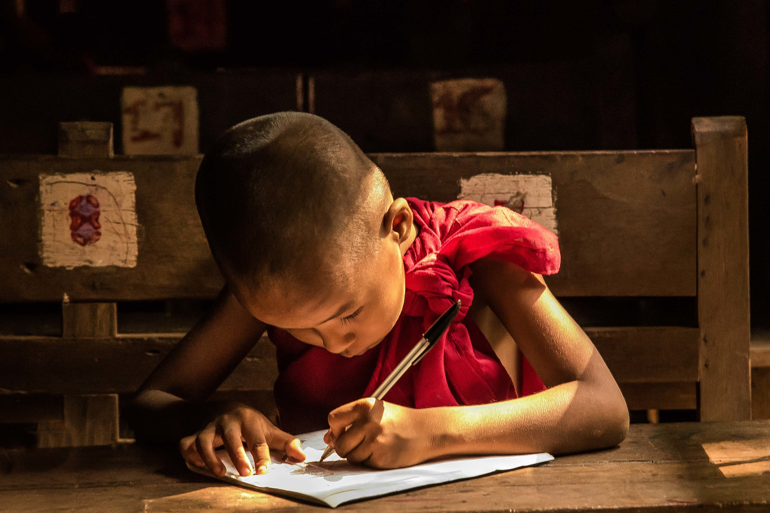 Young Student Monk, Mandalay, Myanmar 2015