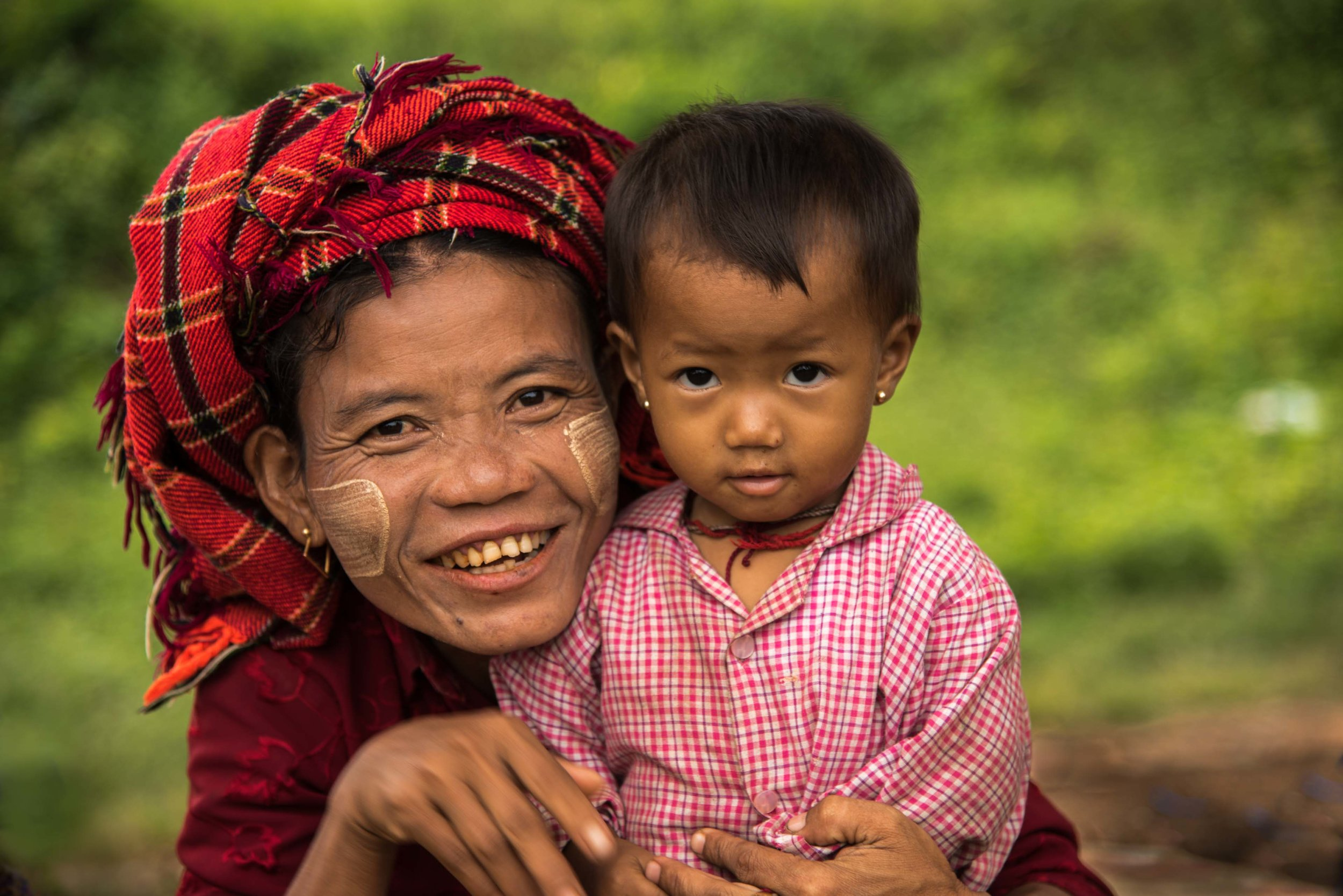 Mother and Son. Inle Lake, Myanmar 2015