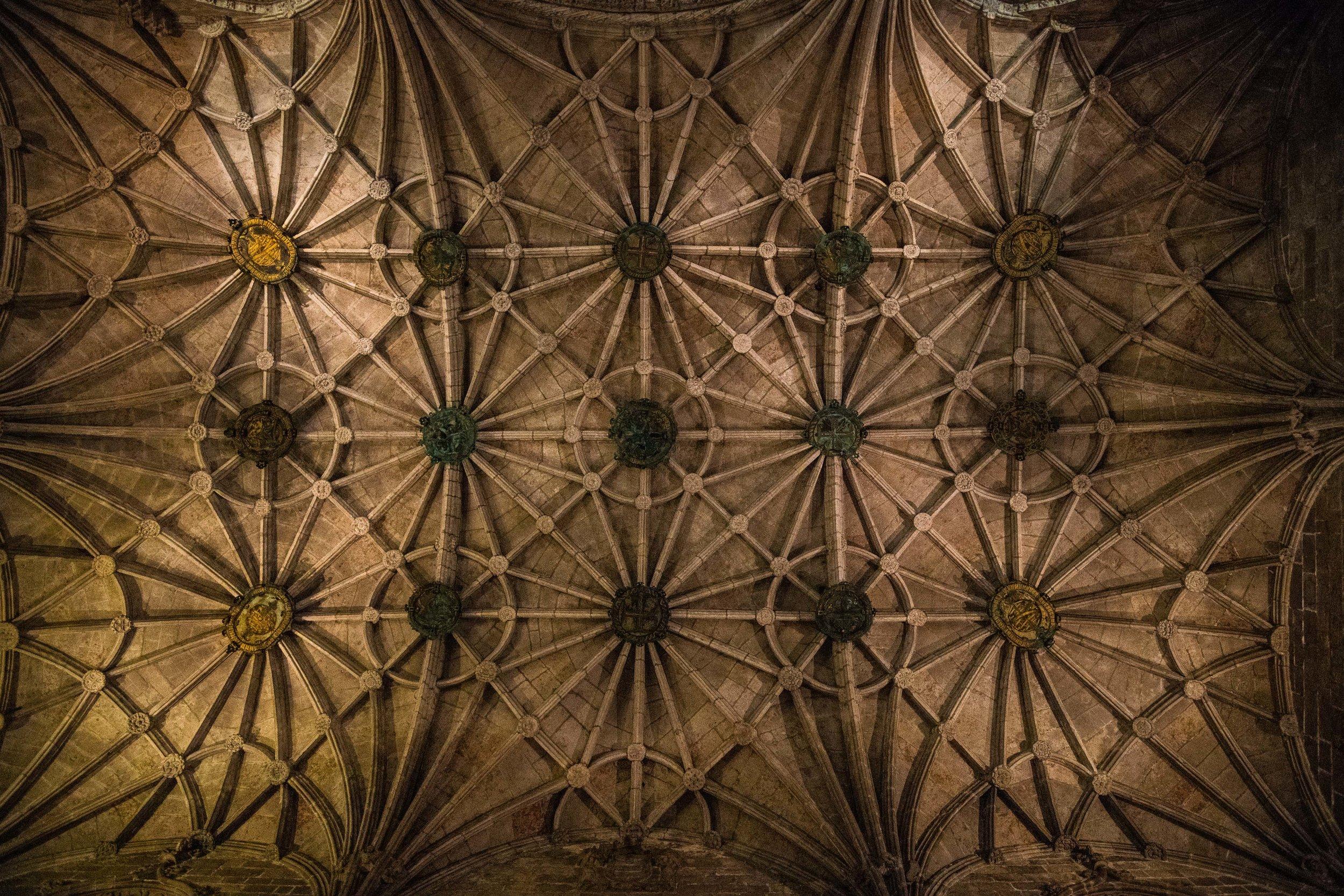 Ceiling - Jeronimos Monastery, Lisbon, Portugal 2018