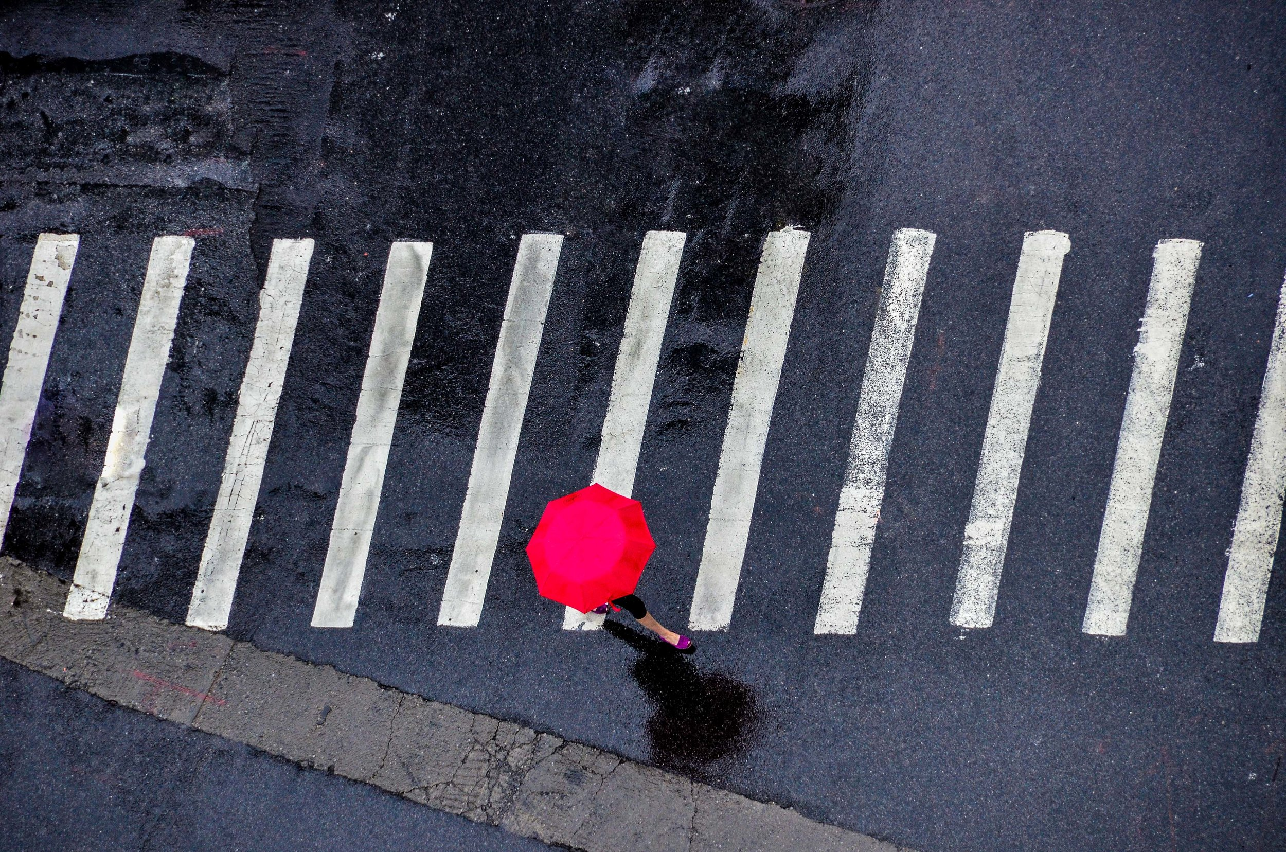 Red Umbrella. Manhattan, NY 2014
