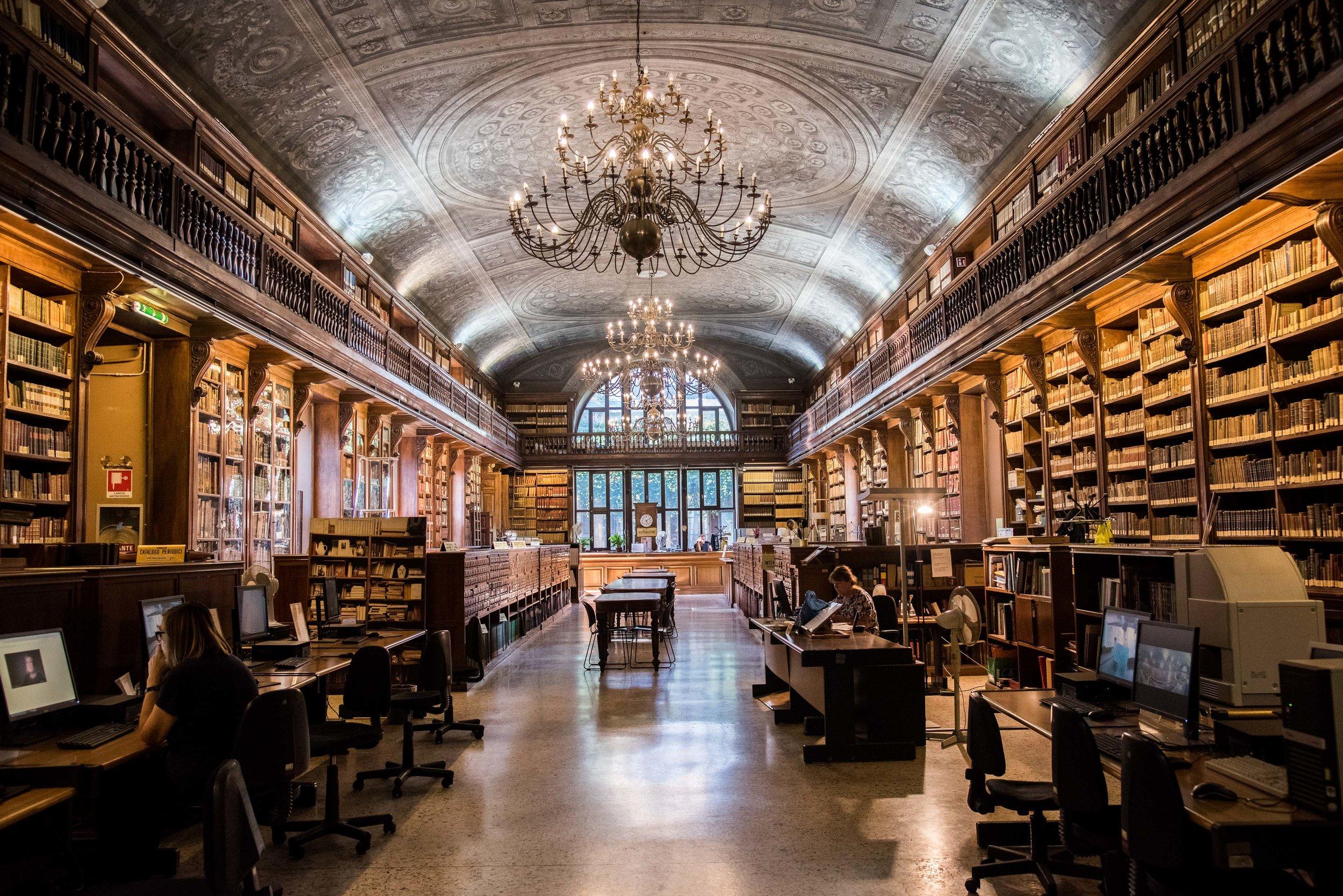 Biblioteca Nazionale Braidense. Milan, Italy 2017