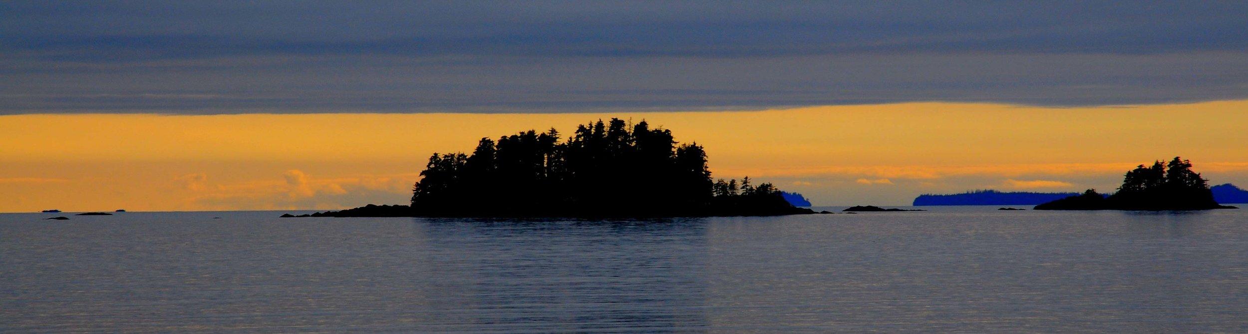 Sunset. Inside Passage, Alaska 2011