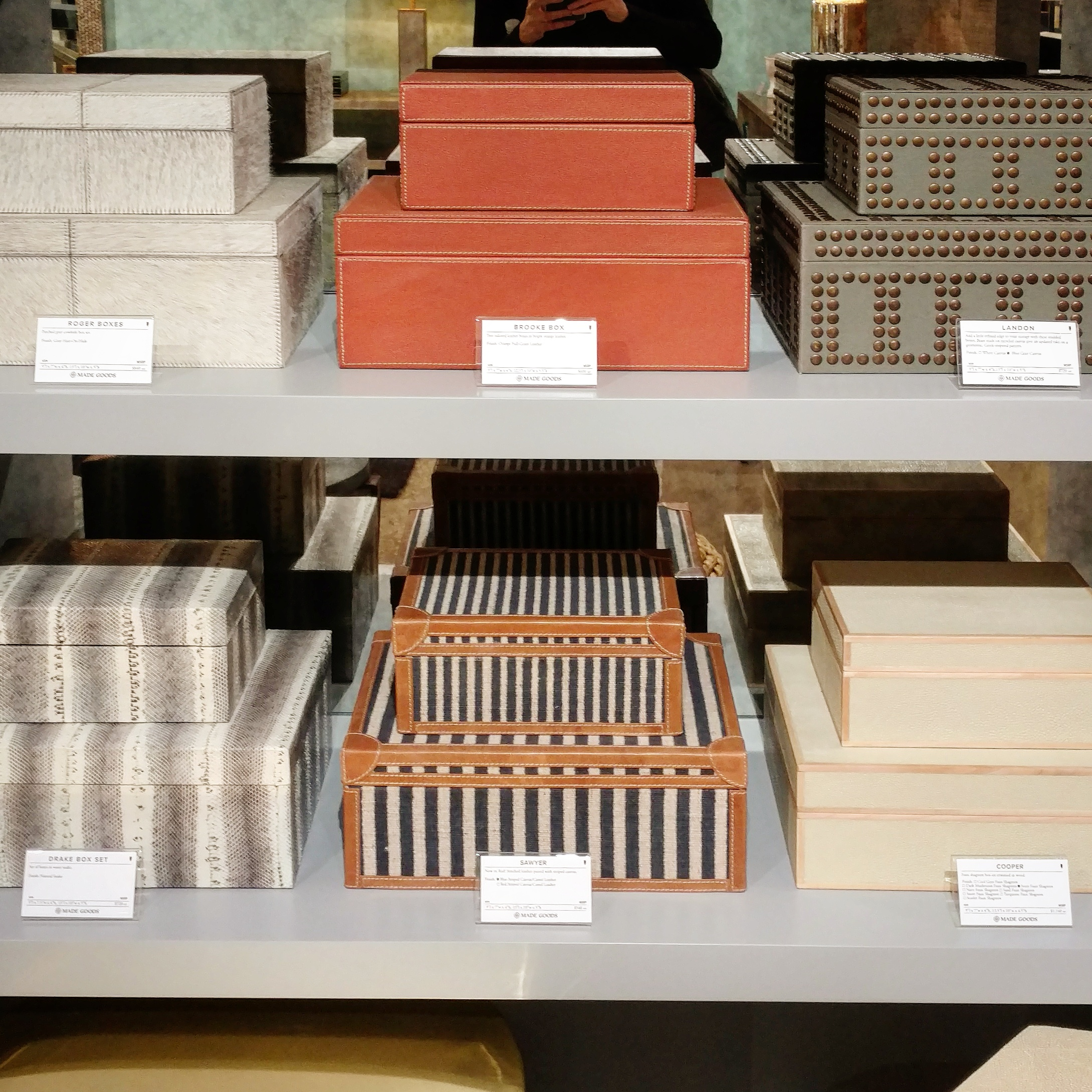Made Goods - Stackable Boxes Display    Credit: Devon Fromm, Taken at Made Goods Chicago Showroom