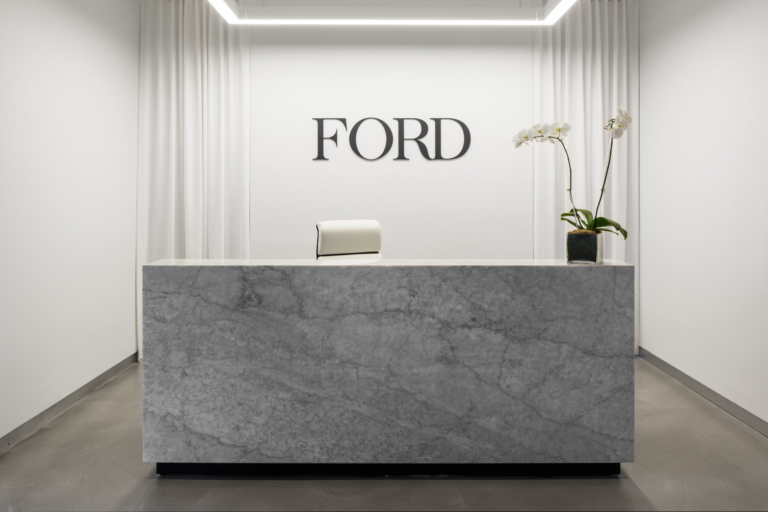 MYDOMAINE    The  Ford Models office in New York just got a striking makeover—and the results are everything you'd imagine for the iconic agency and fashion industry staple.