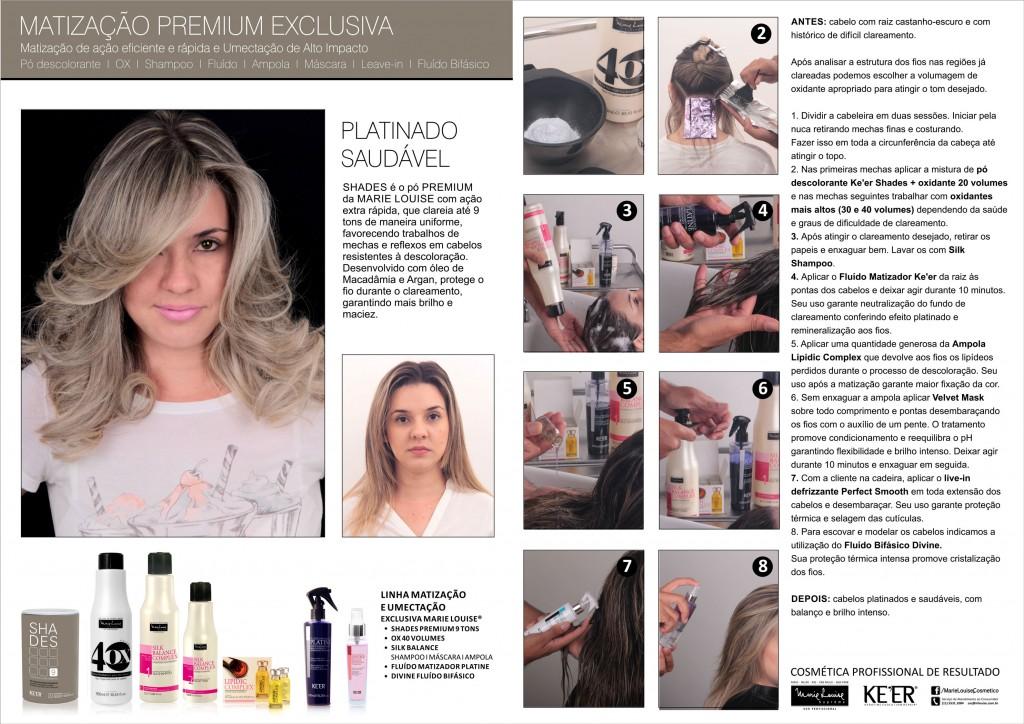 Matização premium exclusiva Marie Louise Shades OX Platine Lipidic Divine