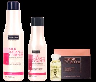 Silk Balance Complex. Shampoo. Velvet Mask. Marie Louise.