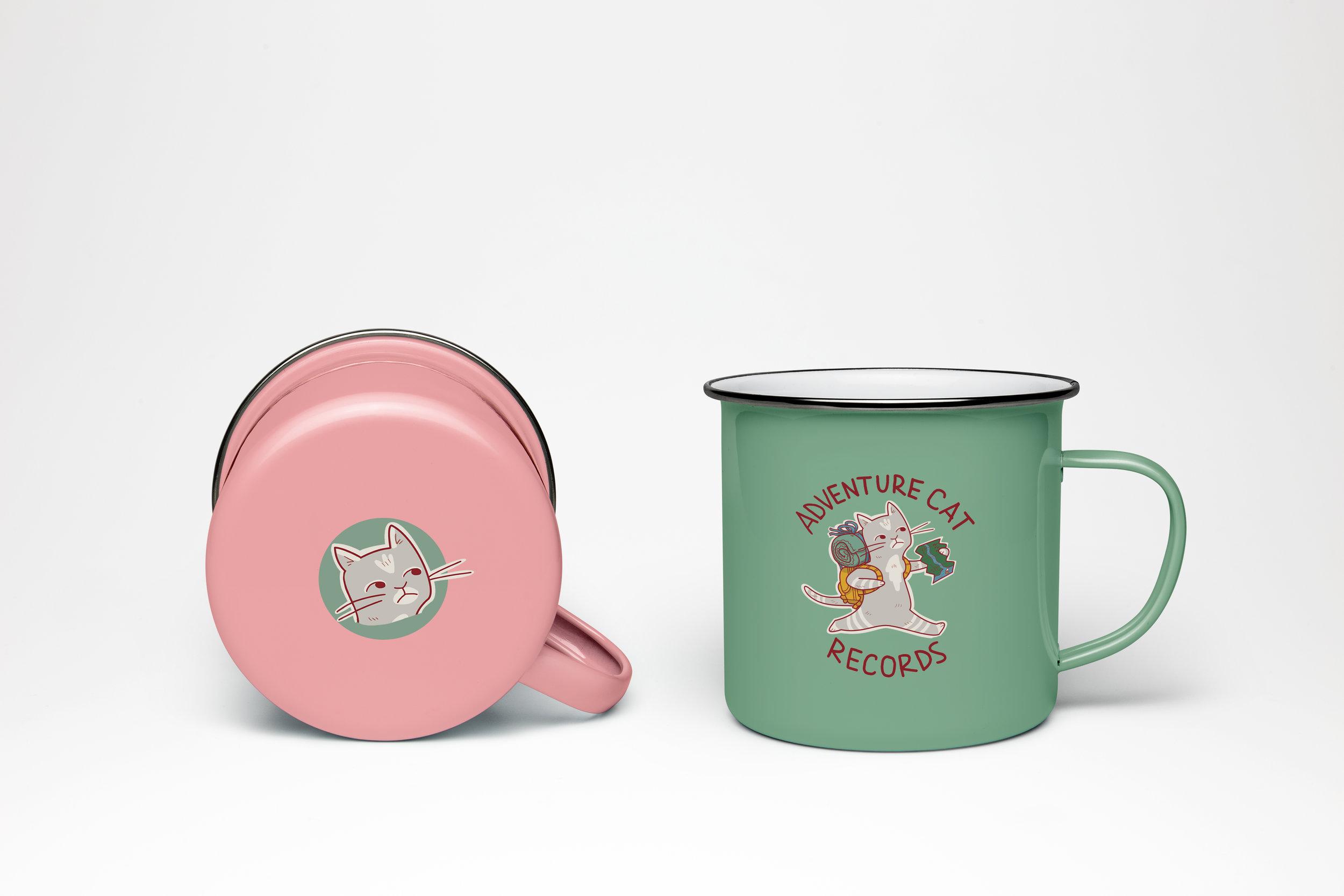 mug concept for Adventure Cat Records