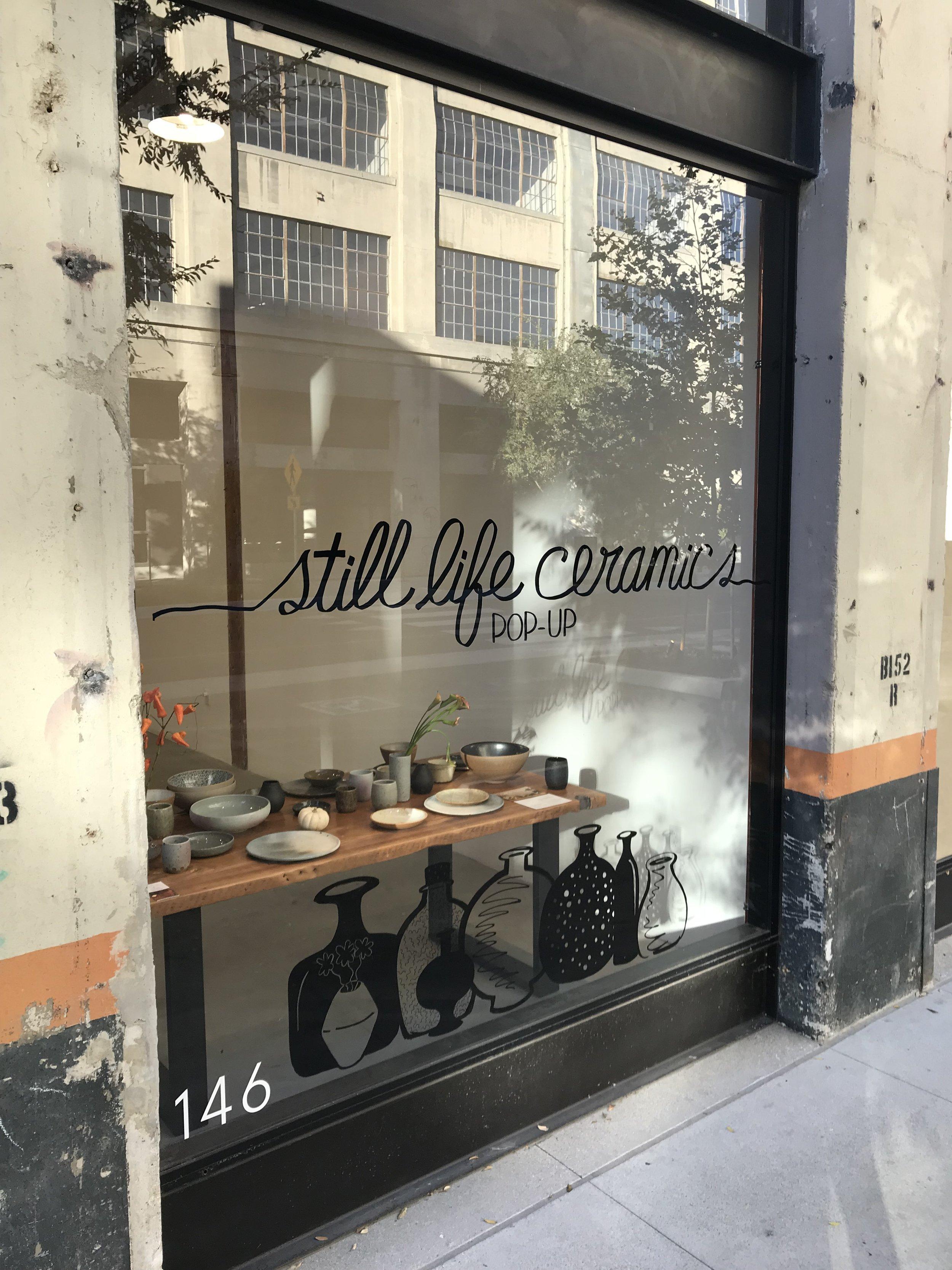 hand-lettering signage for Still Life Ceramics pop up shop!