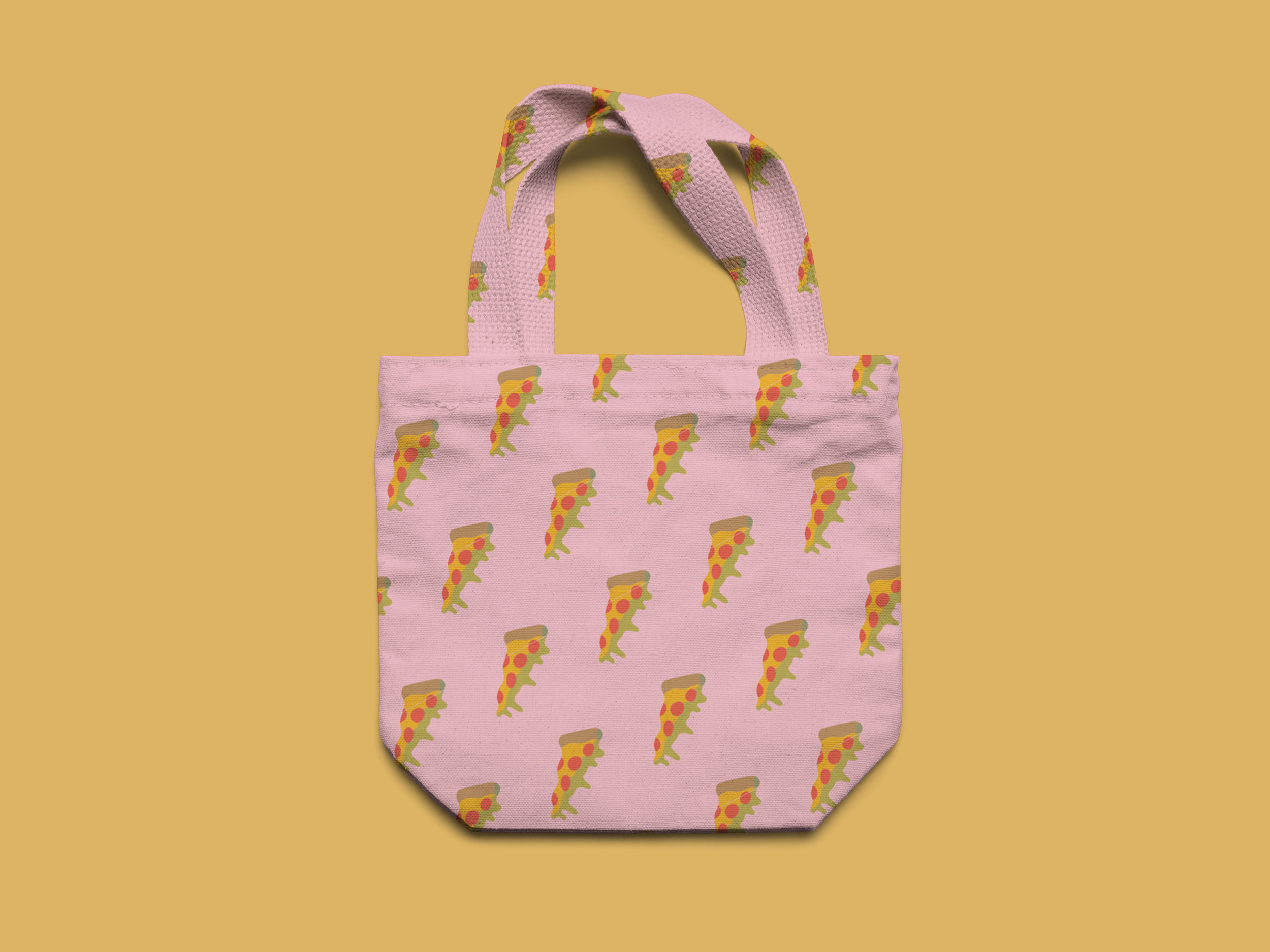 pink pizza tote