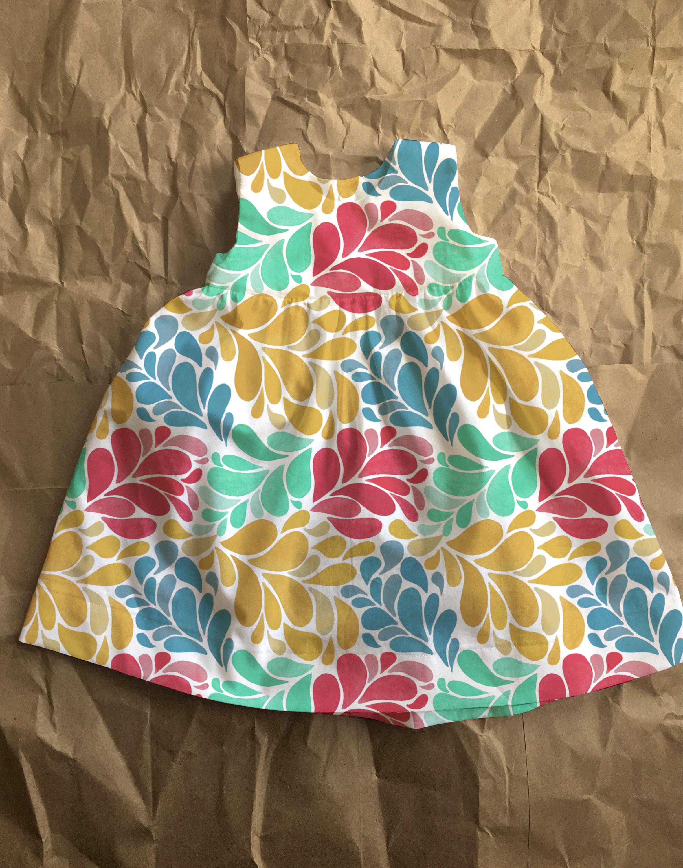 girl's cotton dress concept design - front