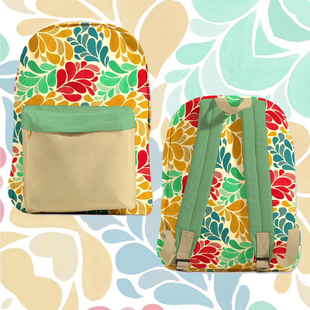 floral backpack concept