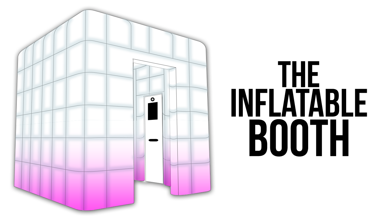 Booth rental includes inflatable booth or backdrop.