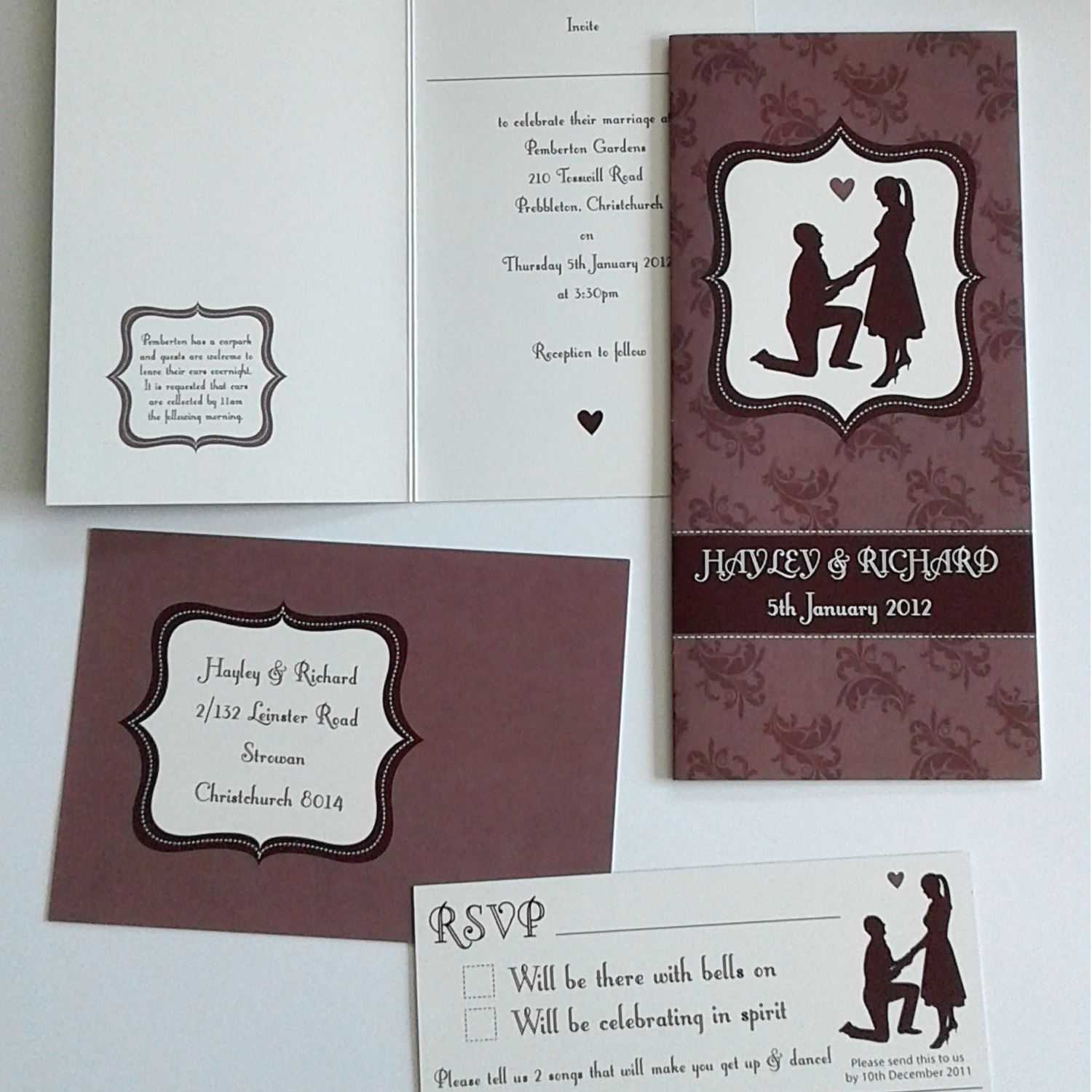 BESPOKE WEDDING INVITATIONS & STATIONARY