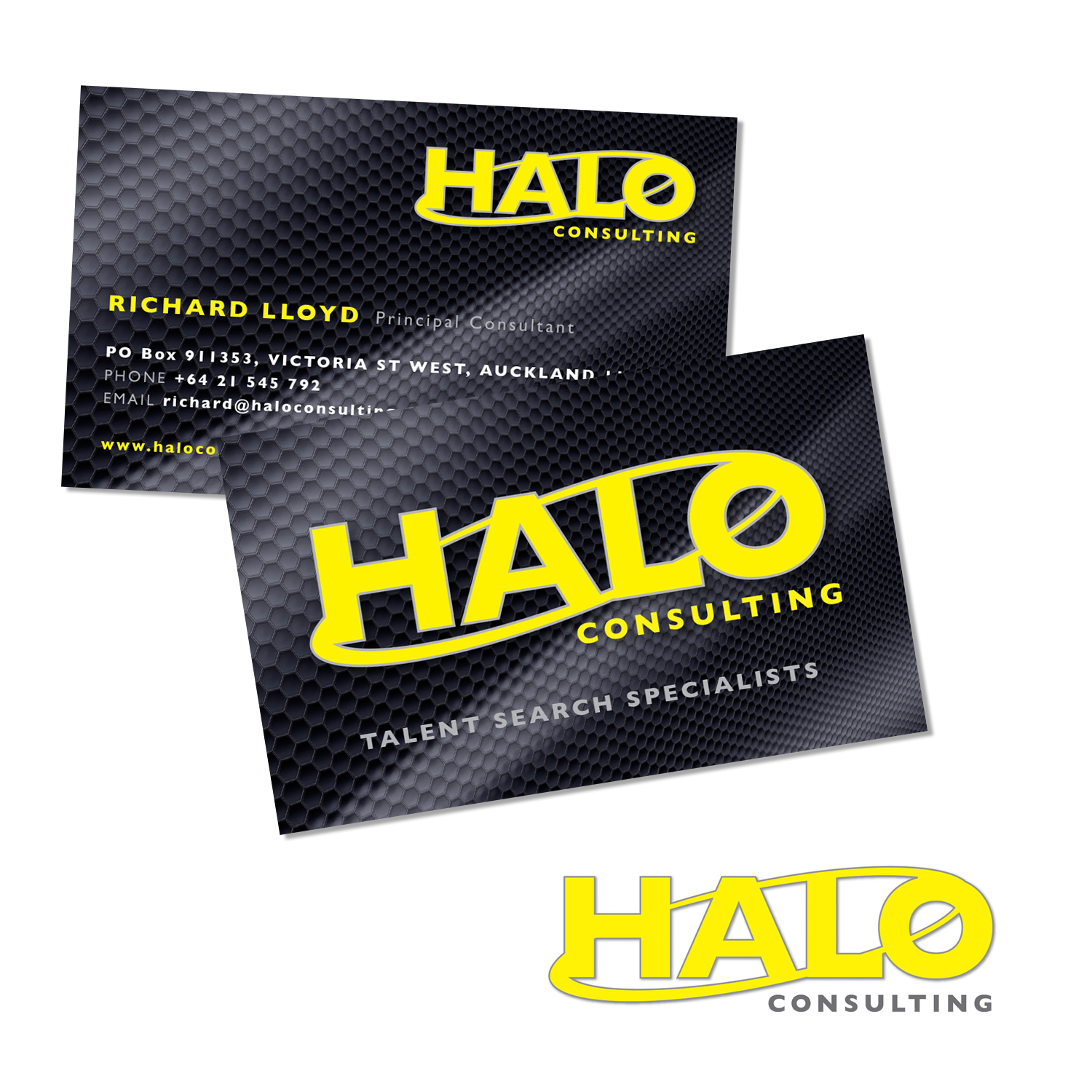 LOGO & BUSINESS CARD DESIGN FOR HALO CONSULTING