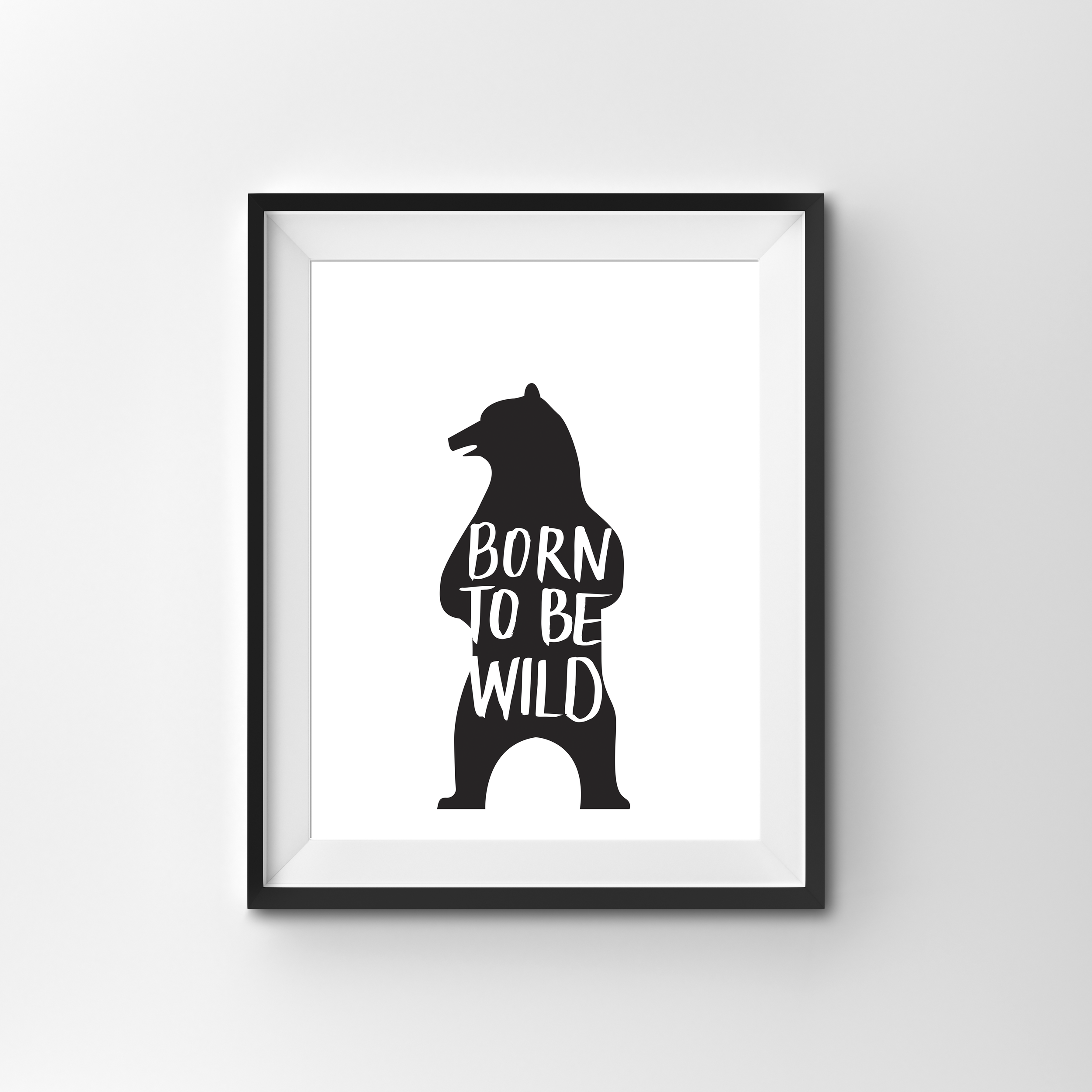 WILD   BLACK & WHITE PRINT PRINTED ON 300gsm TEXTURED CARD STOCK   A4 $17.00   A3 $27.00