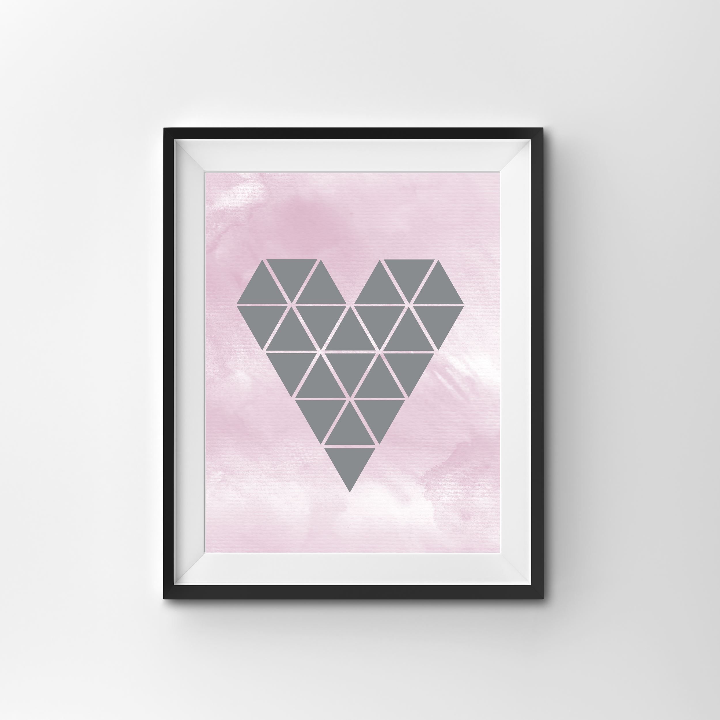 GEO HEART   COLOUR PRINT (with silver foil on request) PRINTED ON 300gsm TEXTURED CARD STOCK   A4 $17.00   A3 $27.00