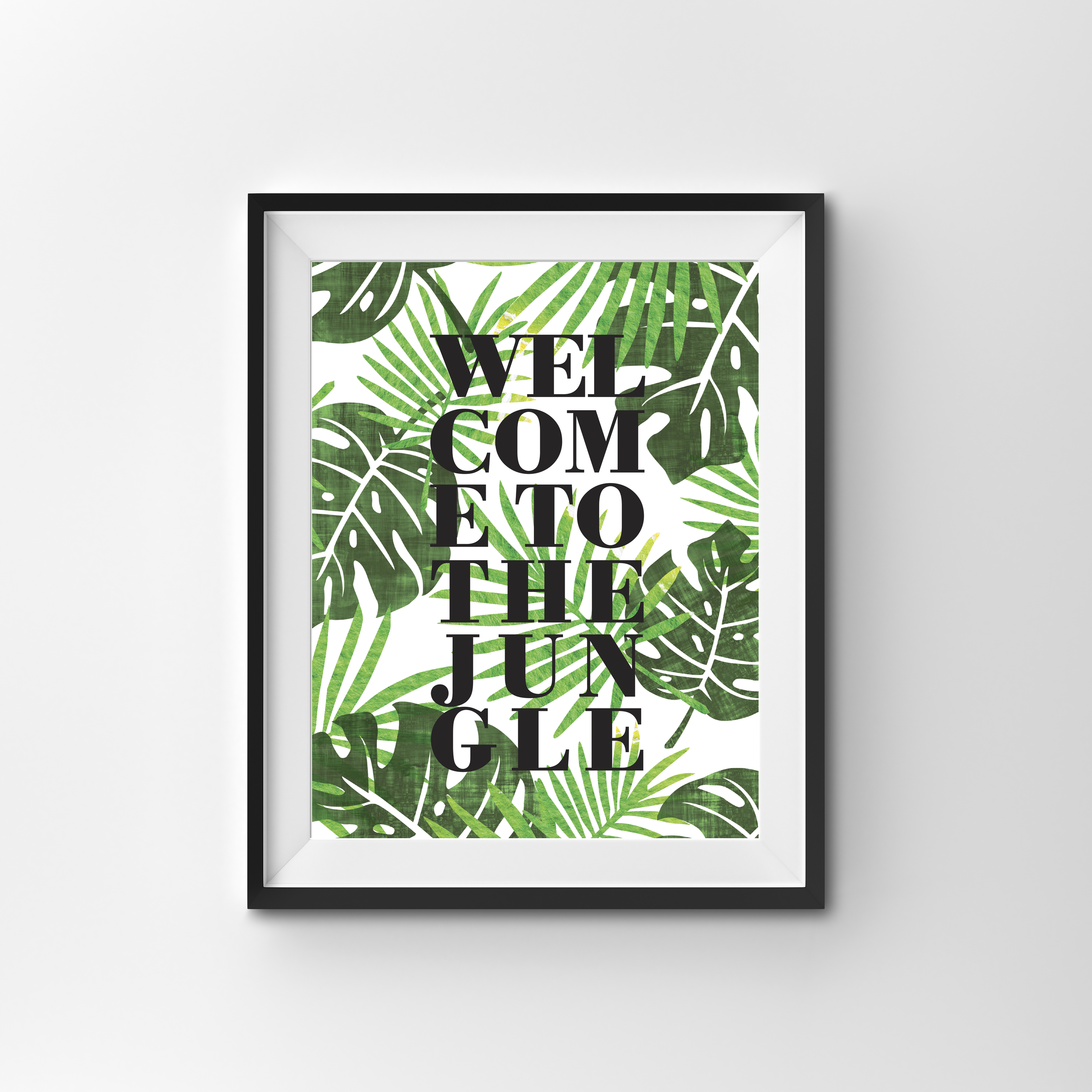 JUNGLE  COLOUR PRINT PRINTED ON 300gsm TEXTURED CARD STOCK A4 $17.00 A3 $27.00