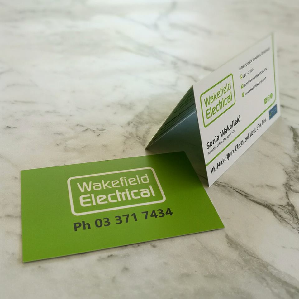 Business Card design for Wakefield Electrical