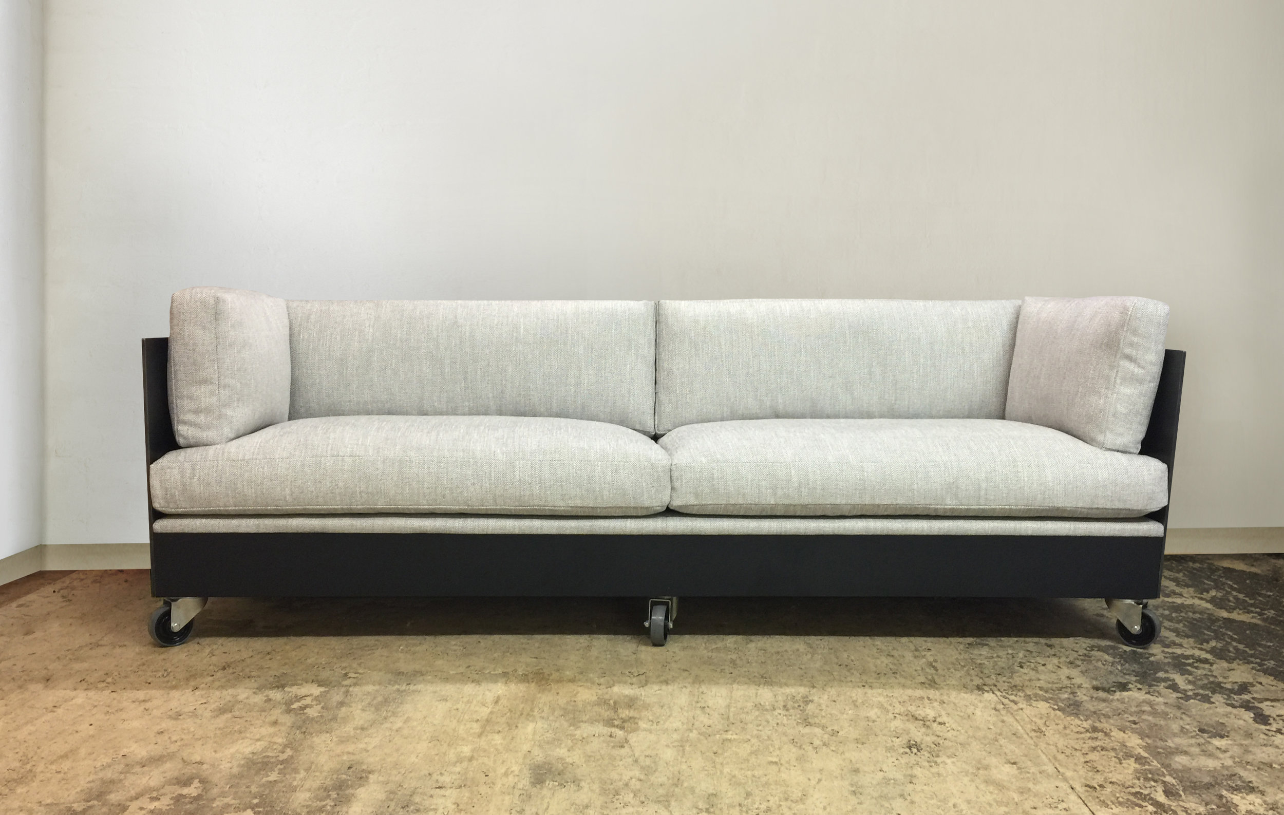 Steel sofa completed
