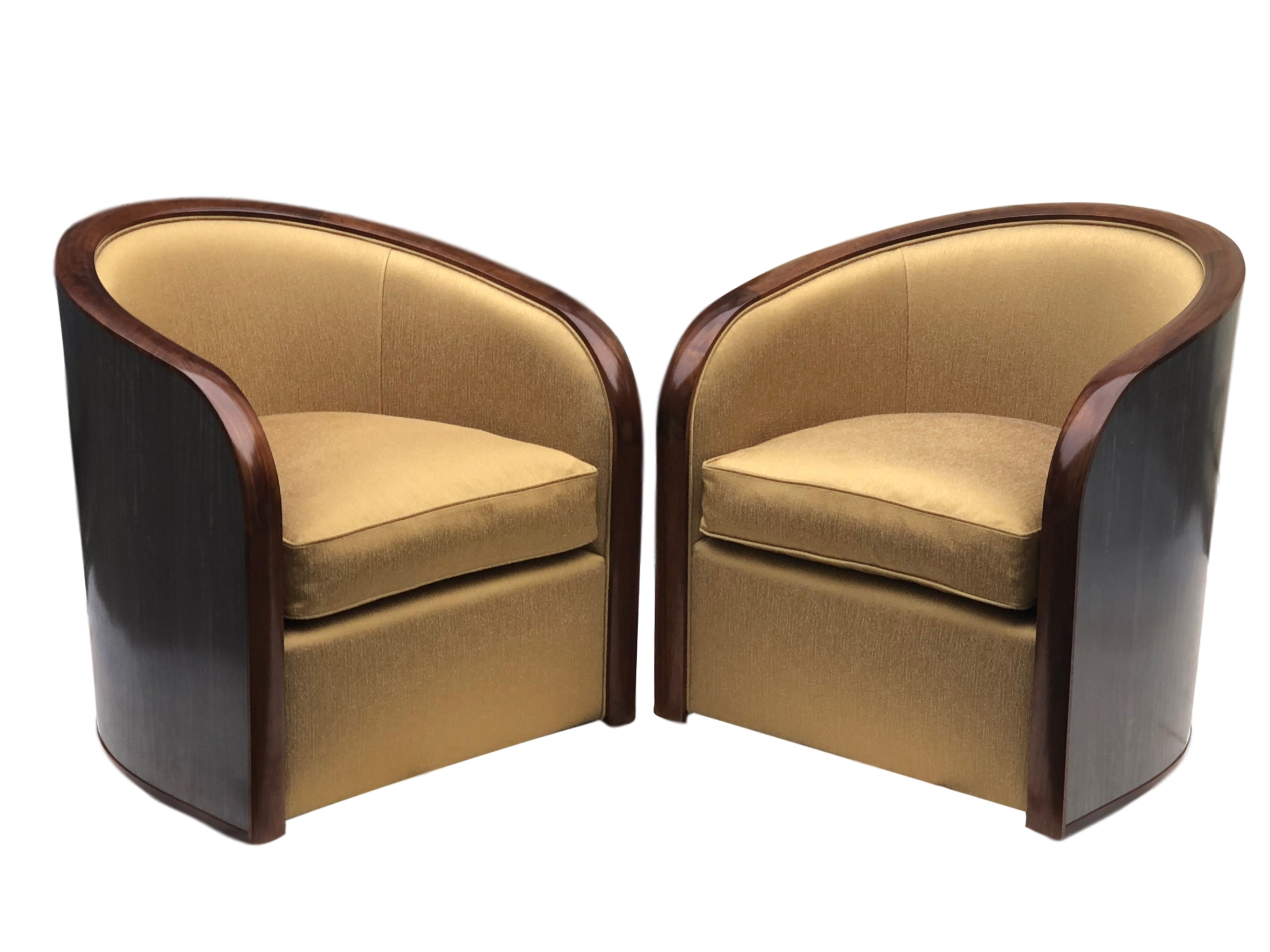 Savoy chairs with showwood backs