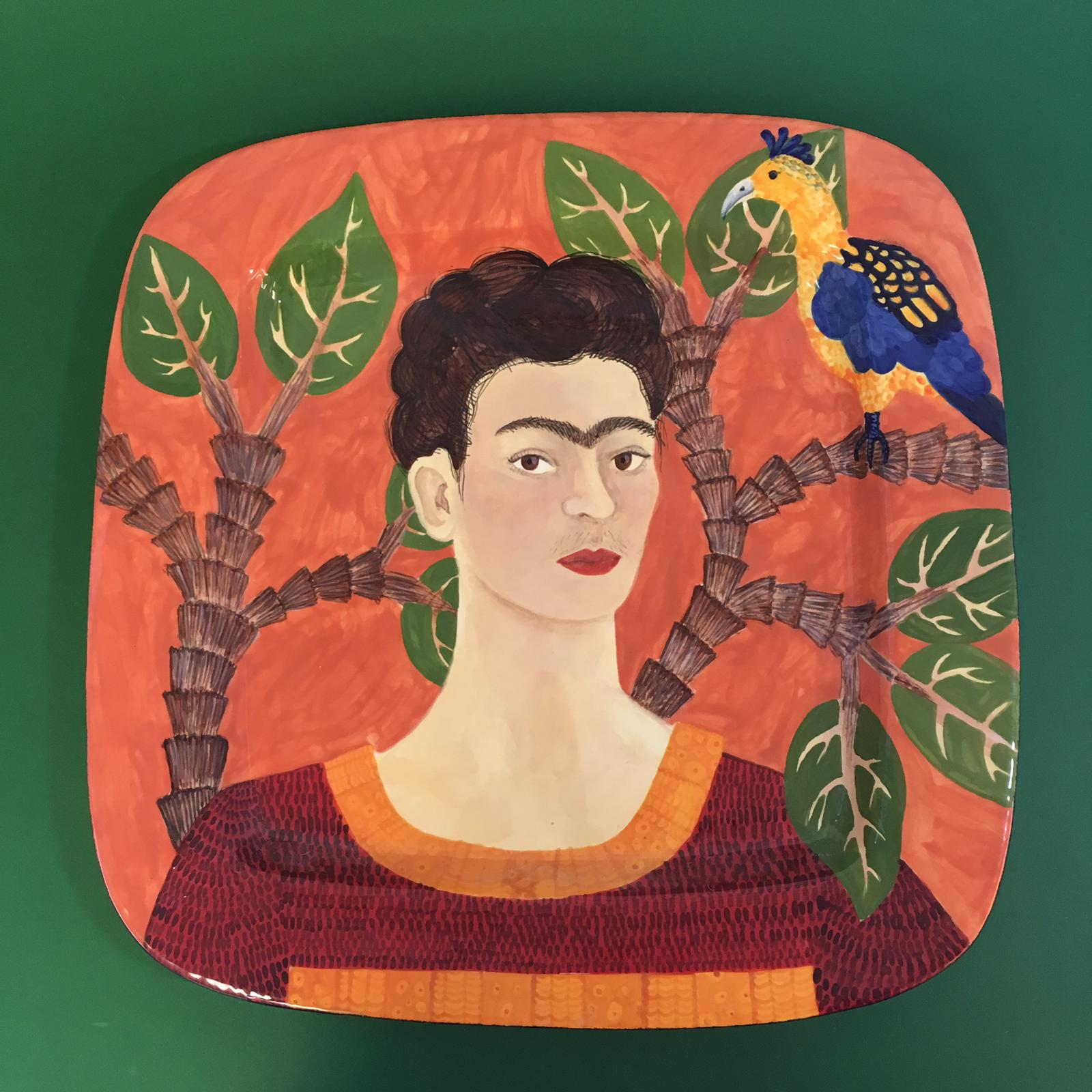 Frida in Red  £125.00  38 x 38 x 6cm