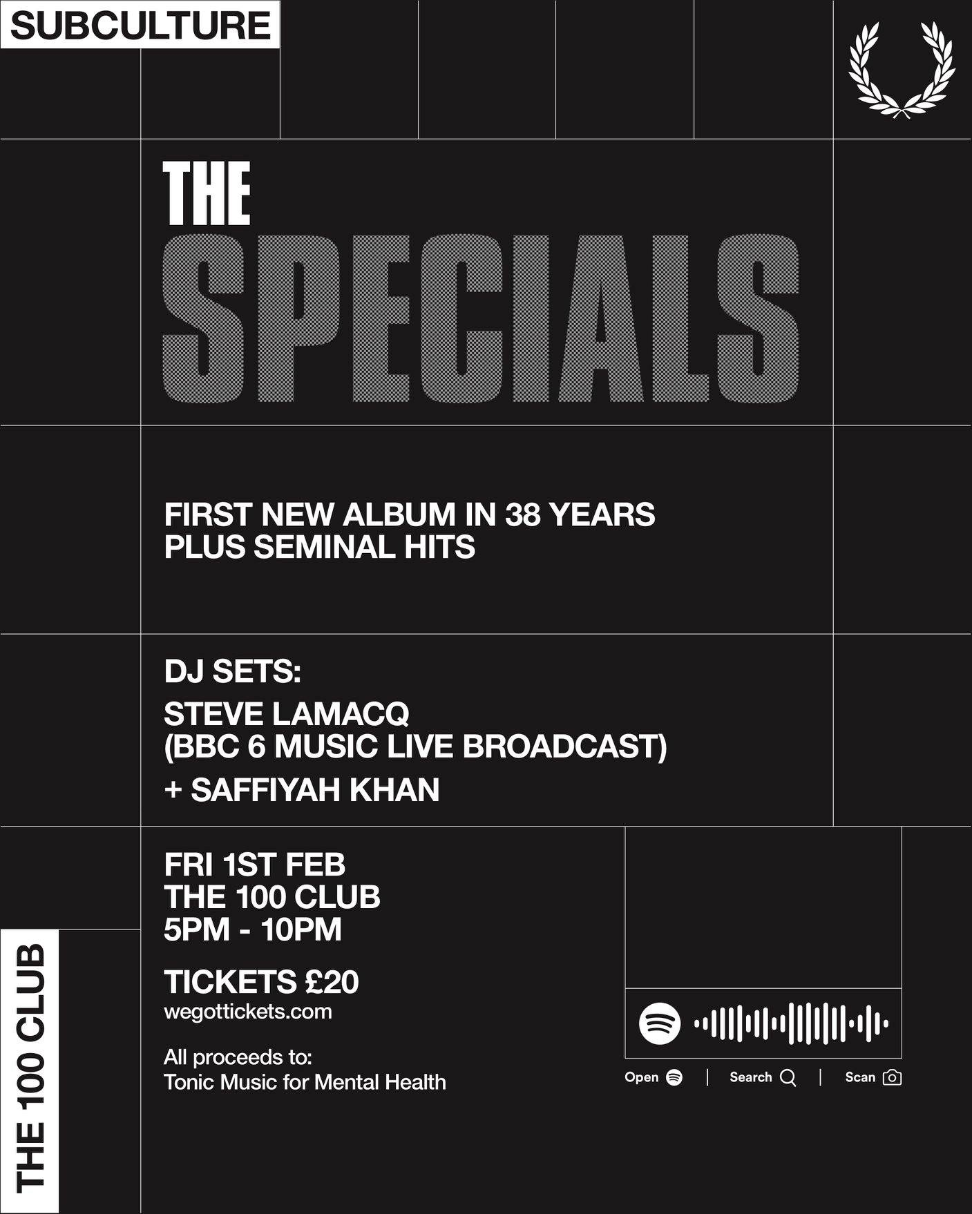 specials gig at 100 club for Tonic music