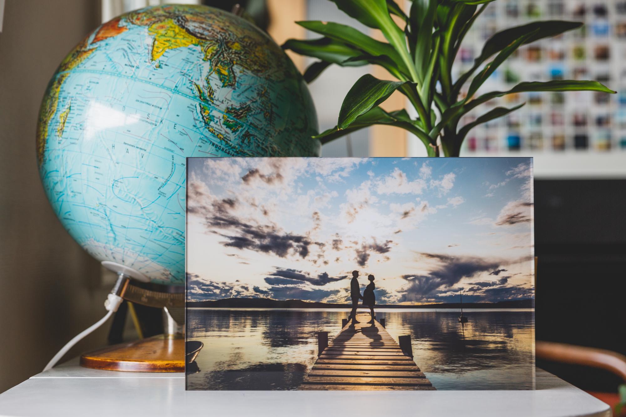 Touch Facemount fungerer utmerket på bilder med mye kontrast, f.eks. familiebilder med natur i bakgrunnen.