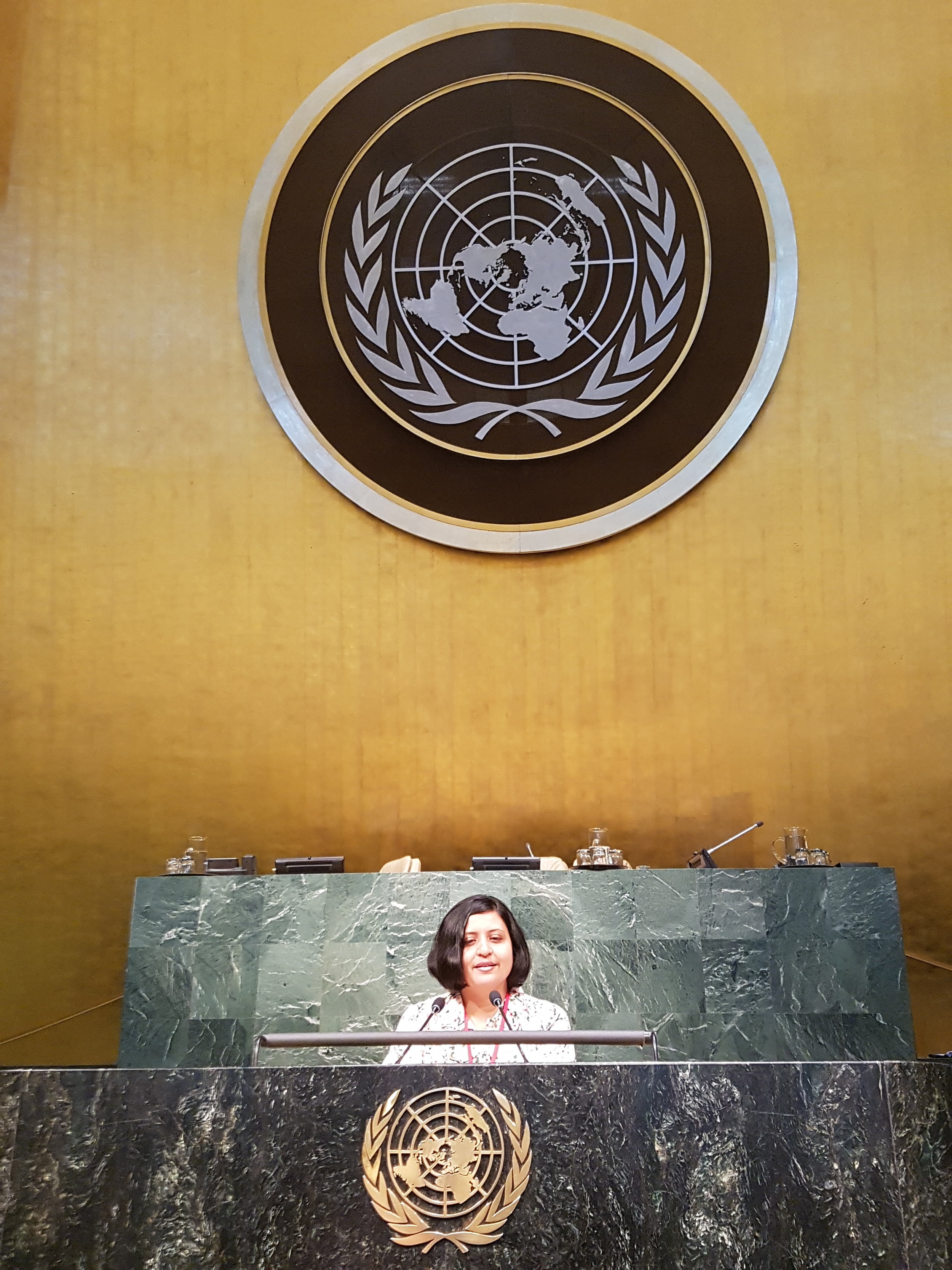 At United Nations, New York
